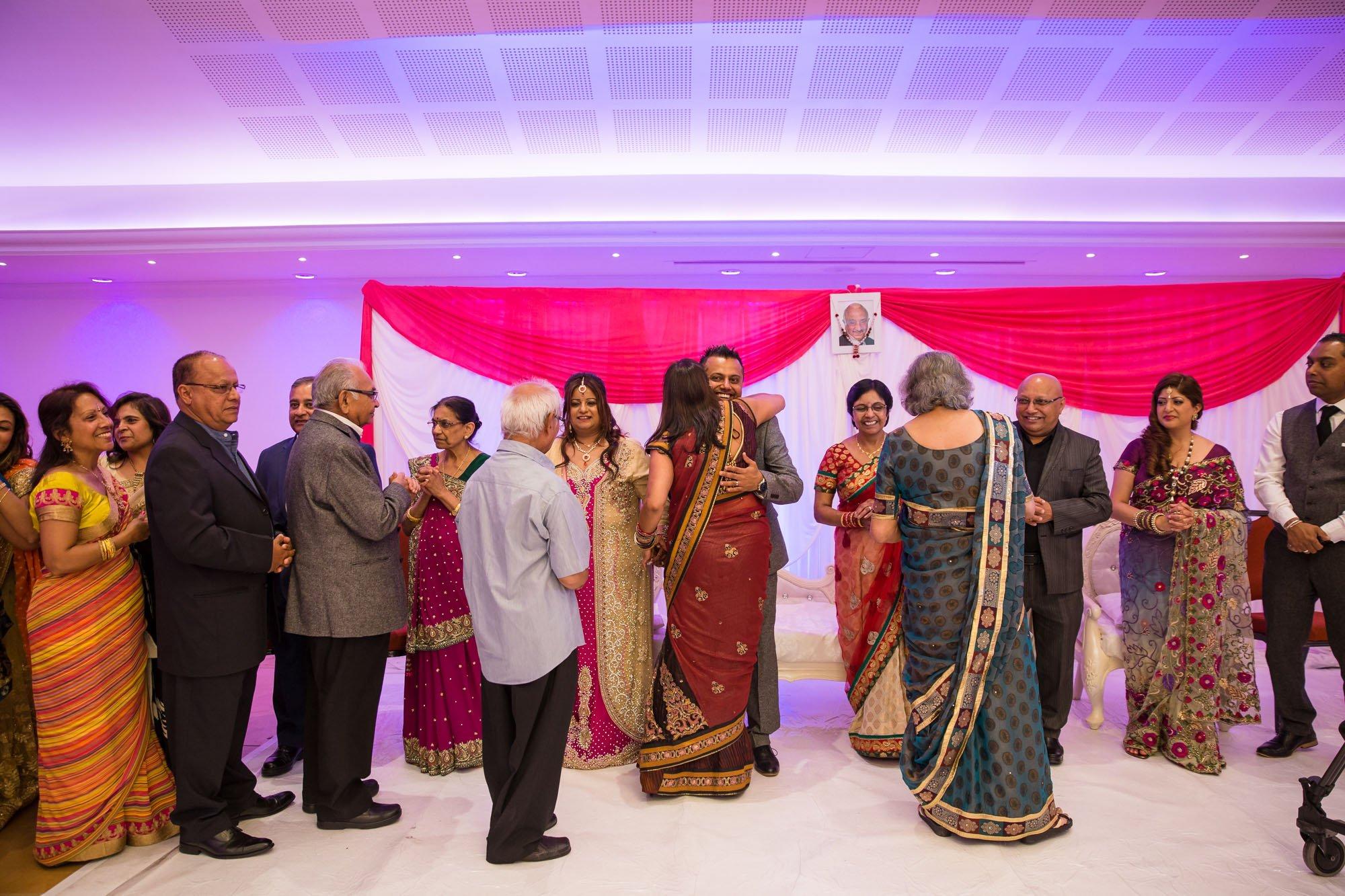 Asian wedding photographer, Oshwal Centre, Potters Bar