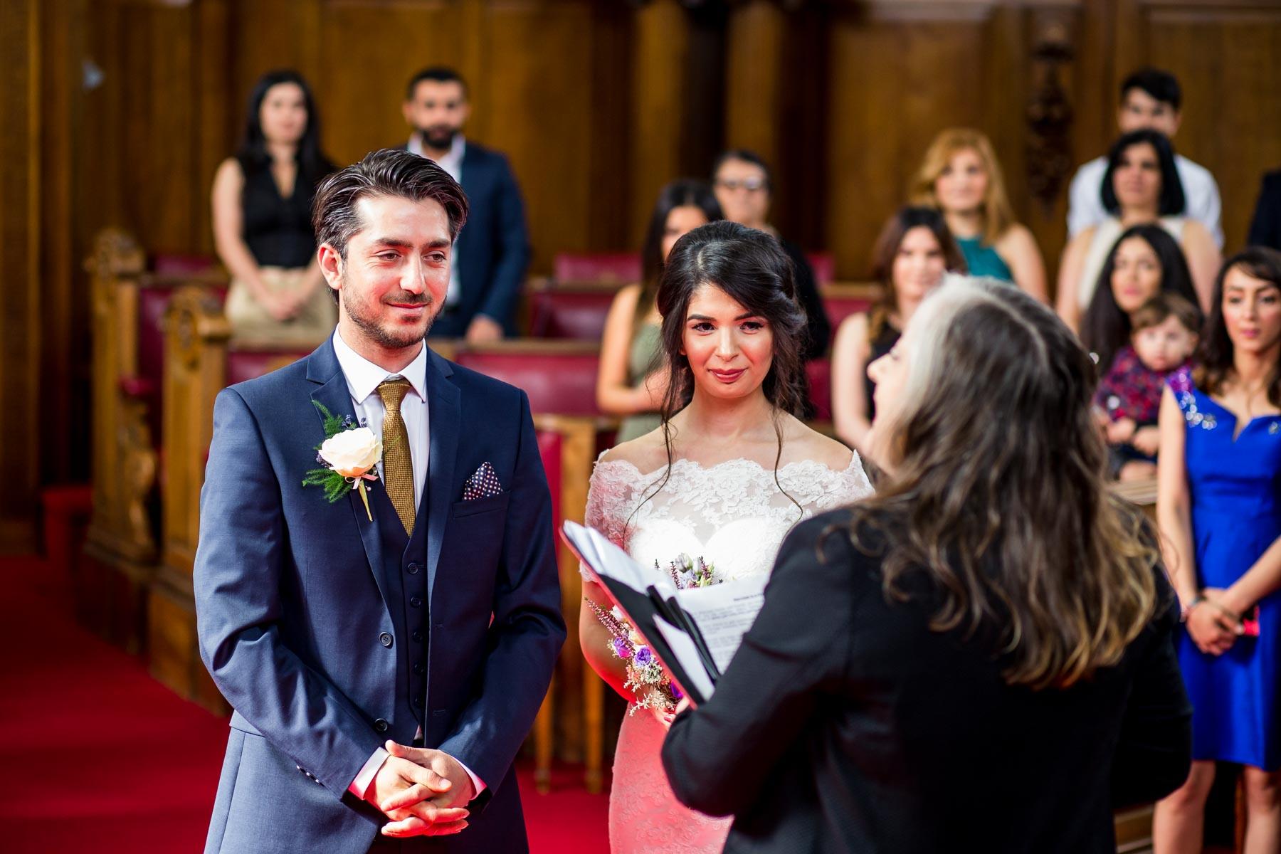 Candid wedding photographer, Islington Town Hall, London