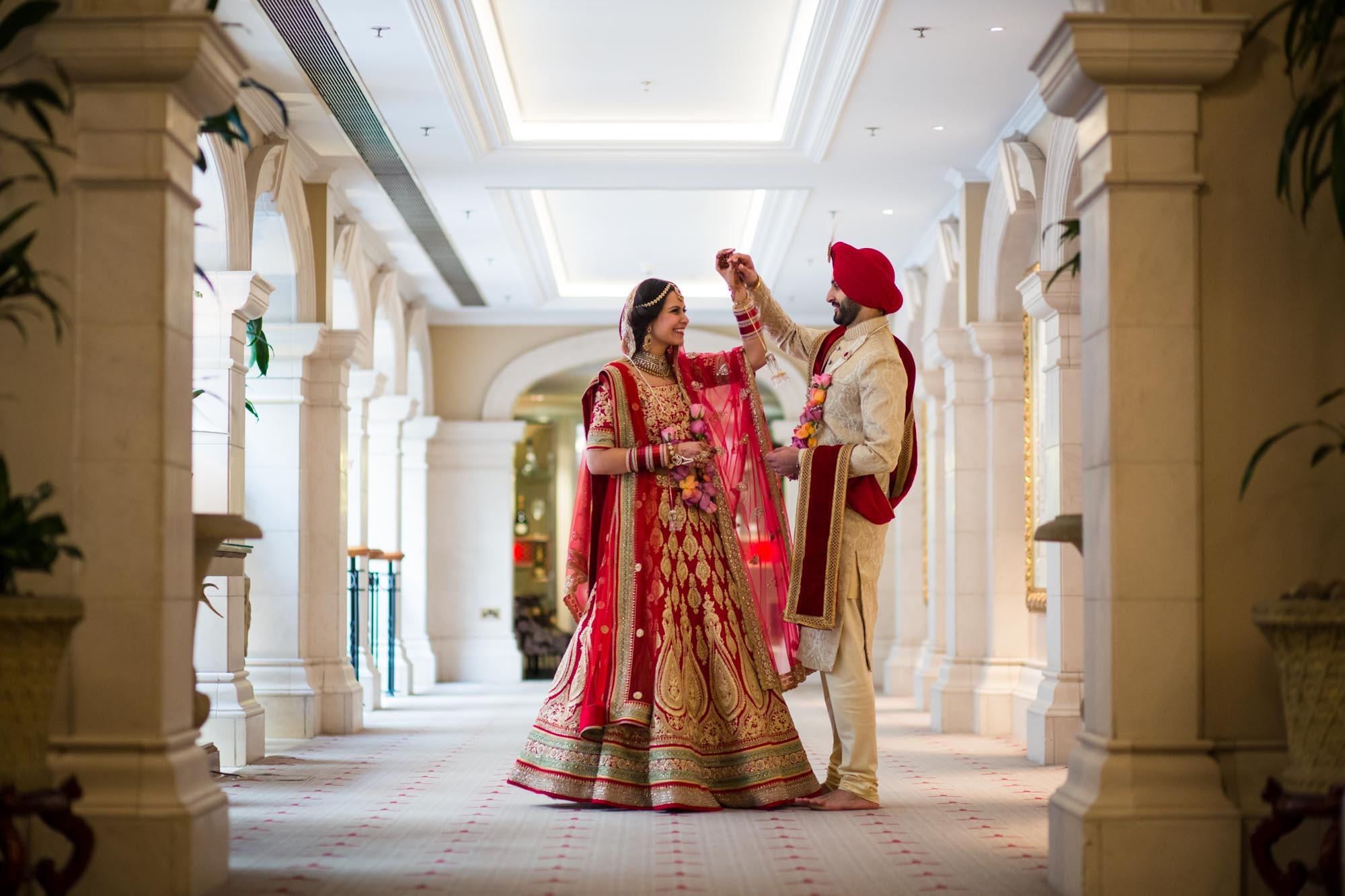 Sikh wedding photographer, The Landmark London