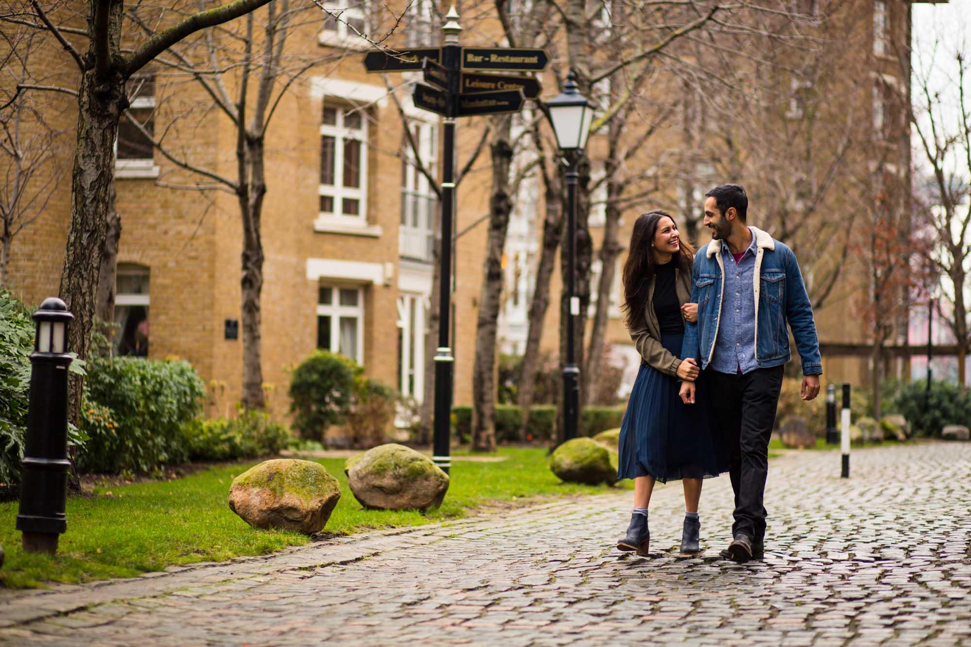 Creative wedding photographer London, engagement shoot