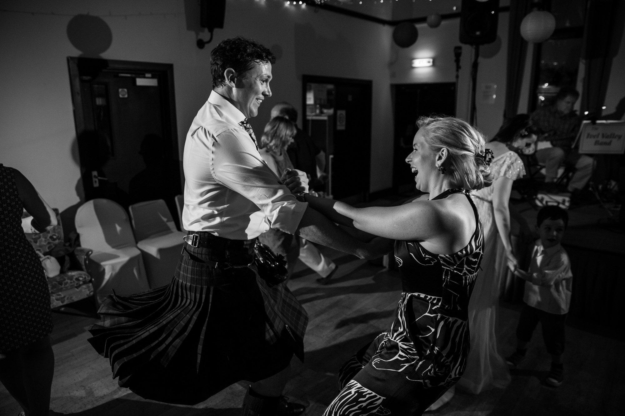 Hertfordshire wedding photographer, Cottered Village Hall, dance floor
