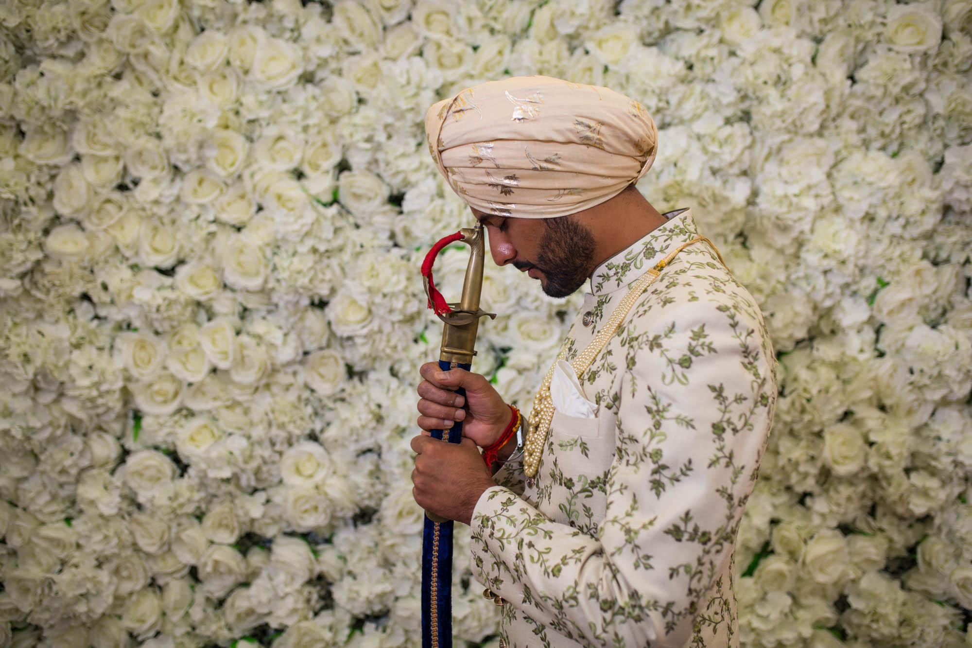 Sikh wedding photographer London, grooms barat