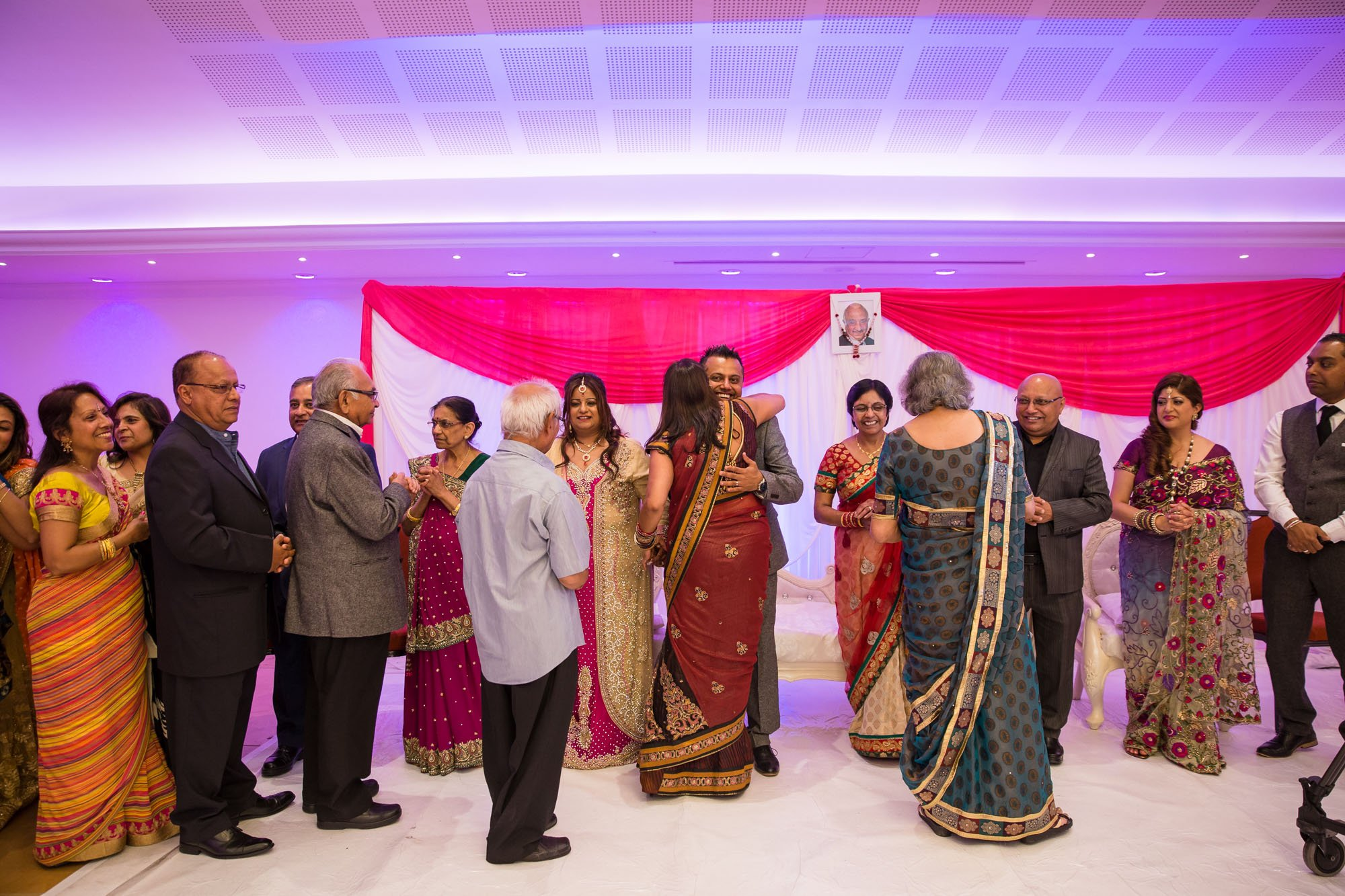 Asian wedding photographer, Oshwal Centre, Potters Bar