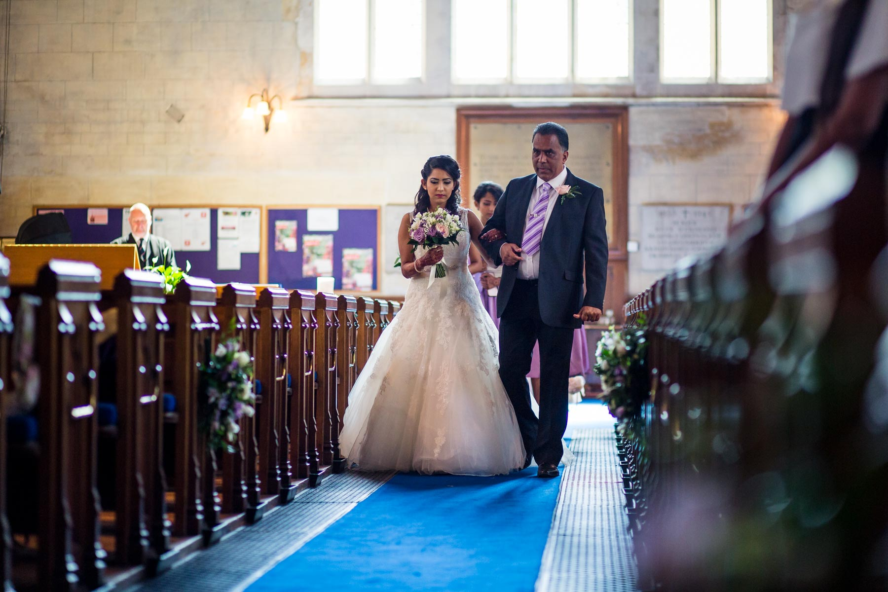 Surrey asian wedding photographer, Trinity Church, Sutton