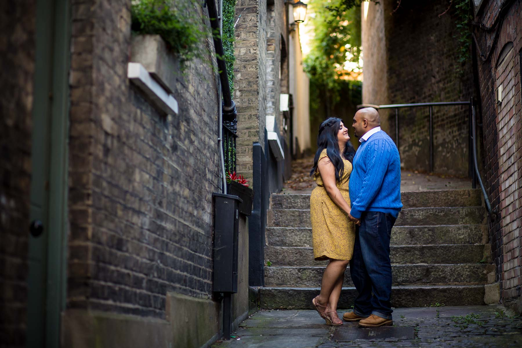 Creative wedding photographer, pre-wed shoot, engagement shoot, Hampstead, London