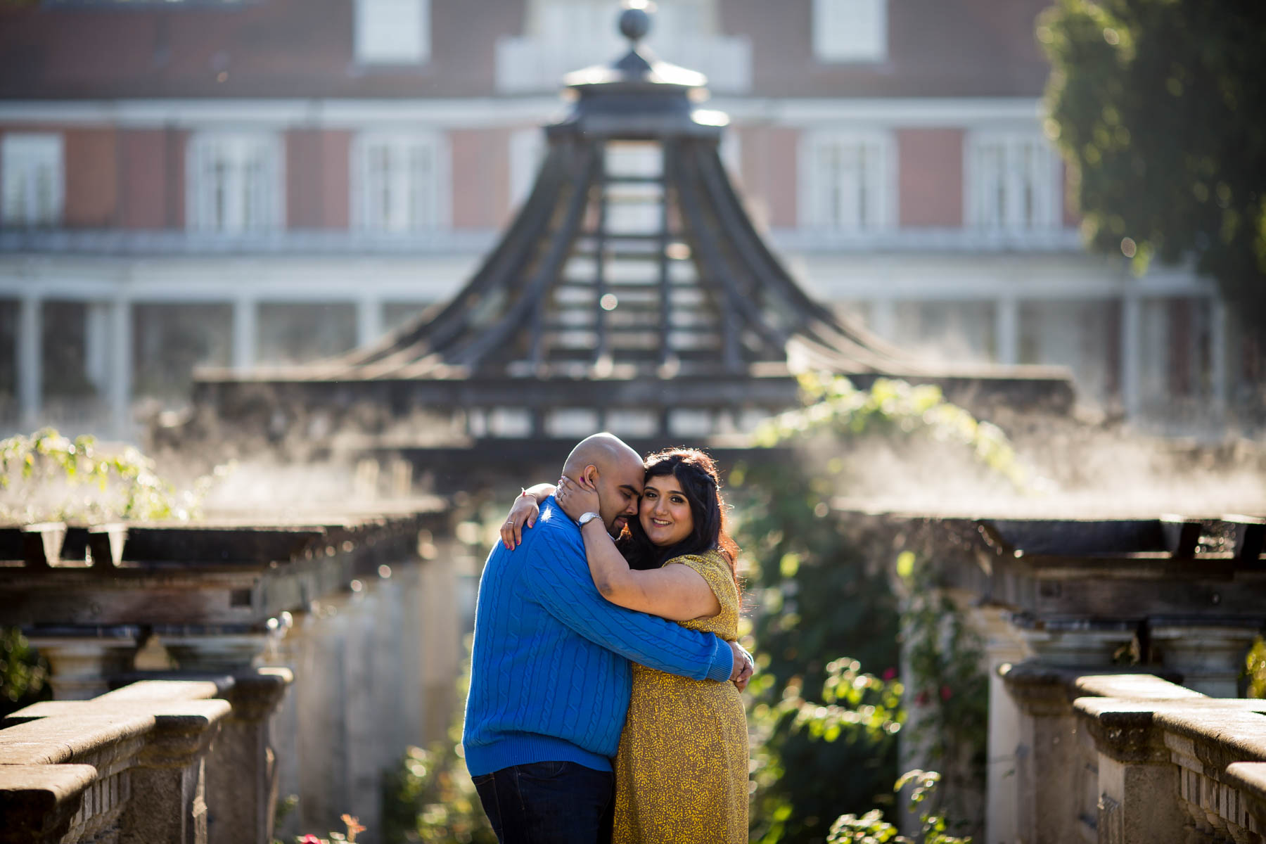 Creative wedding photographer, pre-wed shoot in london, engagement shoot, Hampstead