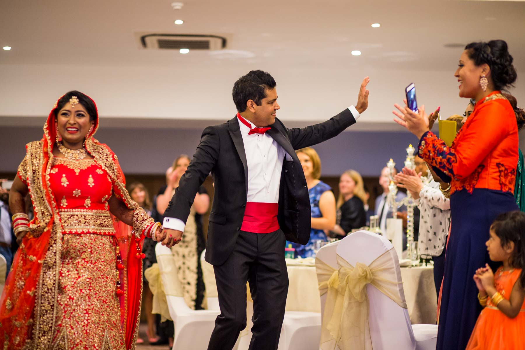 Asian wedding photographer Surrey, Oatlands Park Hotel, Weybridge