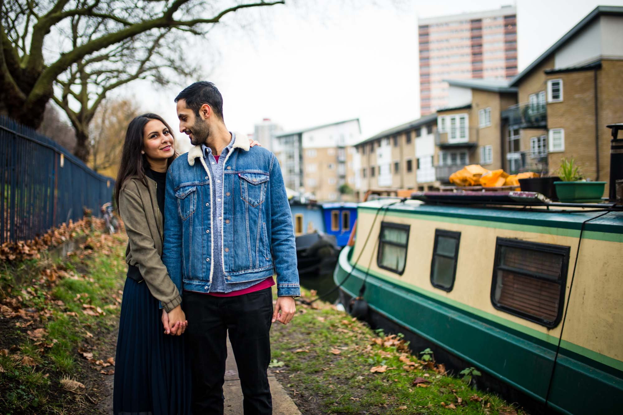 Creative wedding photographer London, engagement shoot