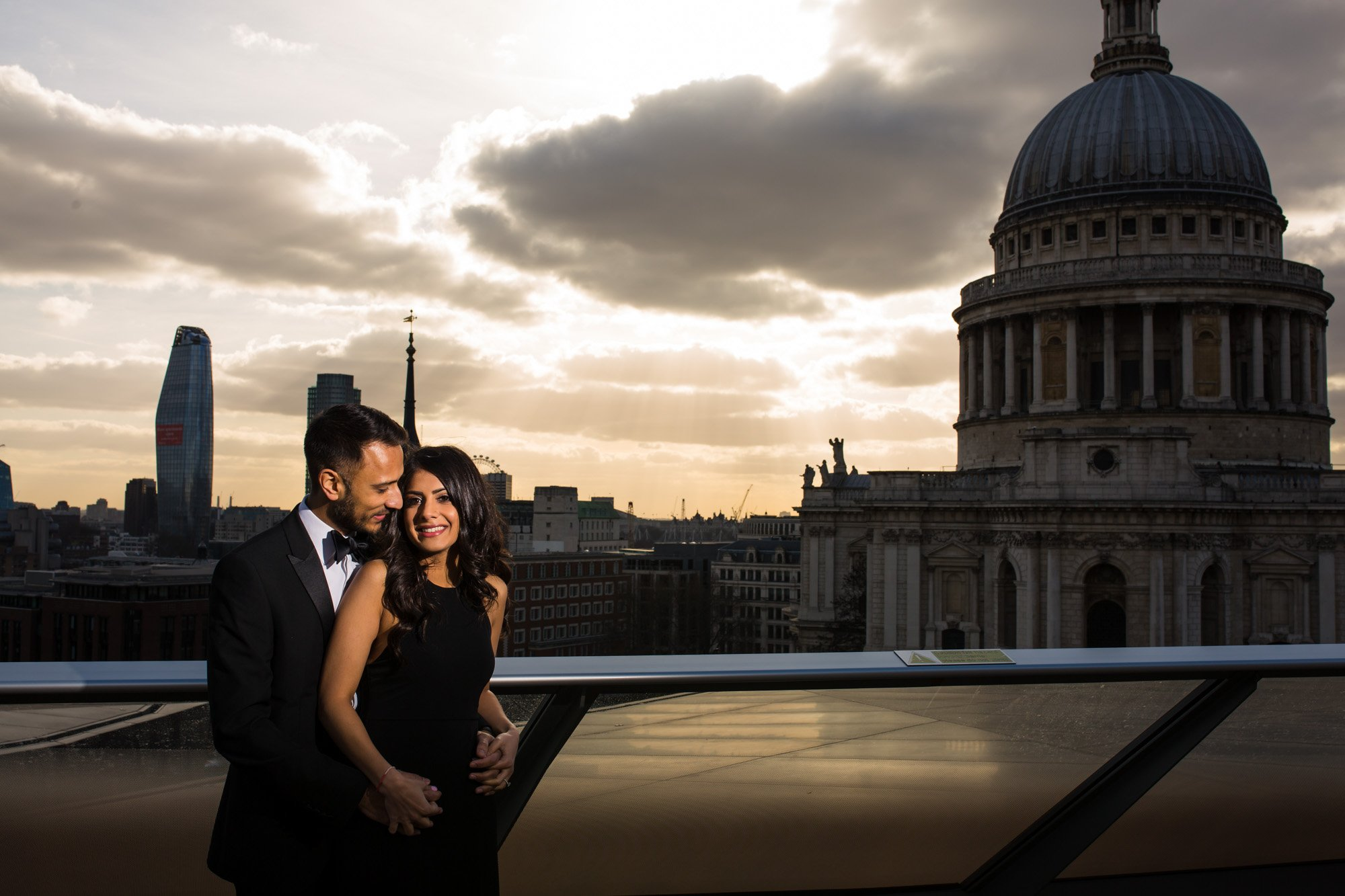 London Indian wedding photographer, pre-wed shoot, engagement shoot, golden hour