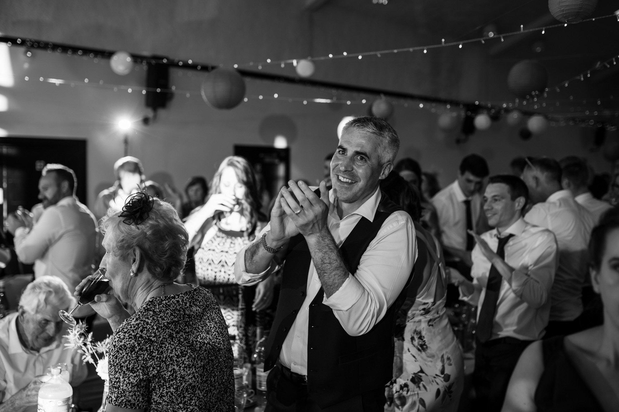 Hertfordshire wedding photographer, Cottered Village Hall, speeches
