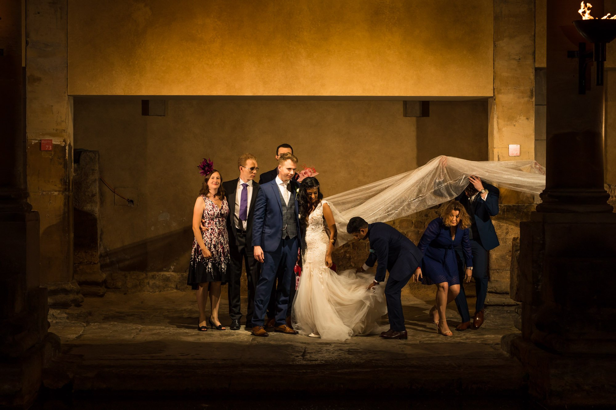 The Roman Baths, Formal portraits, Indian wedding photographers,