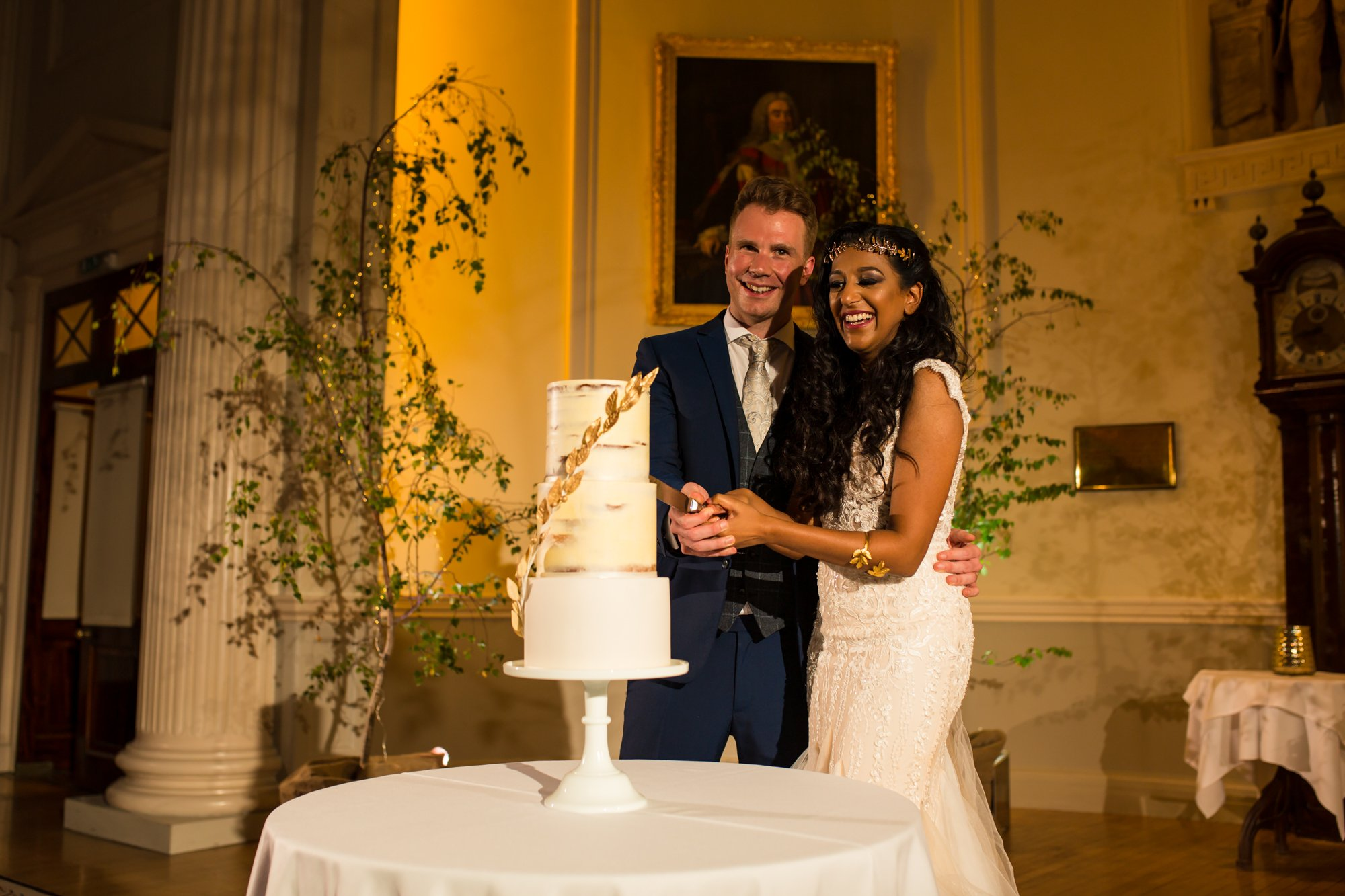 The Roman Baths, Somerset, Indian wedding photographers, cake cutting