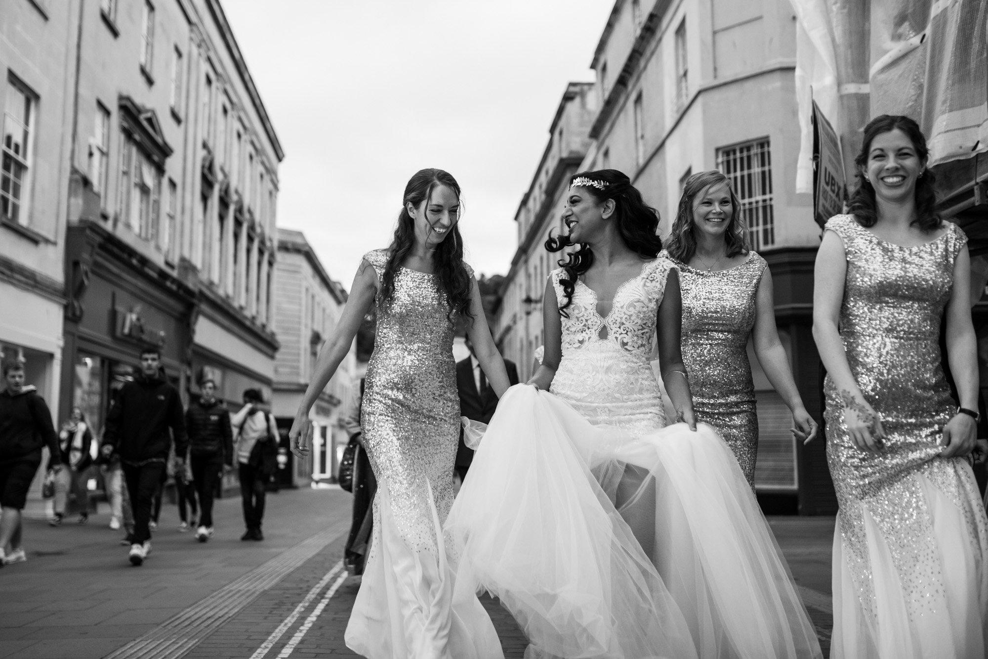 Bath, Indian wedding photographers, bride, bridesmaids