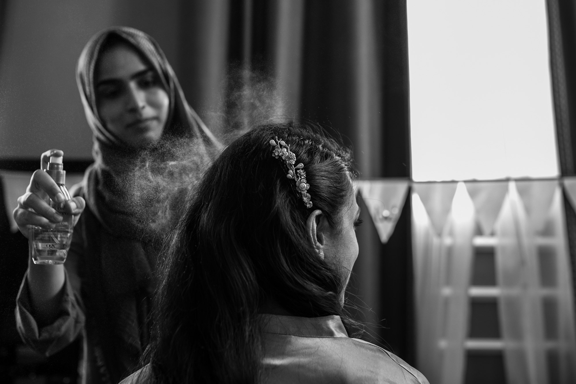 The Gainsborough Hotel, Bath, Indian wedding photographers, bride, hair and make up