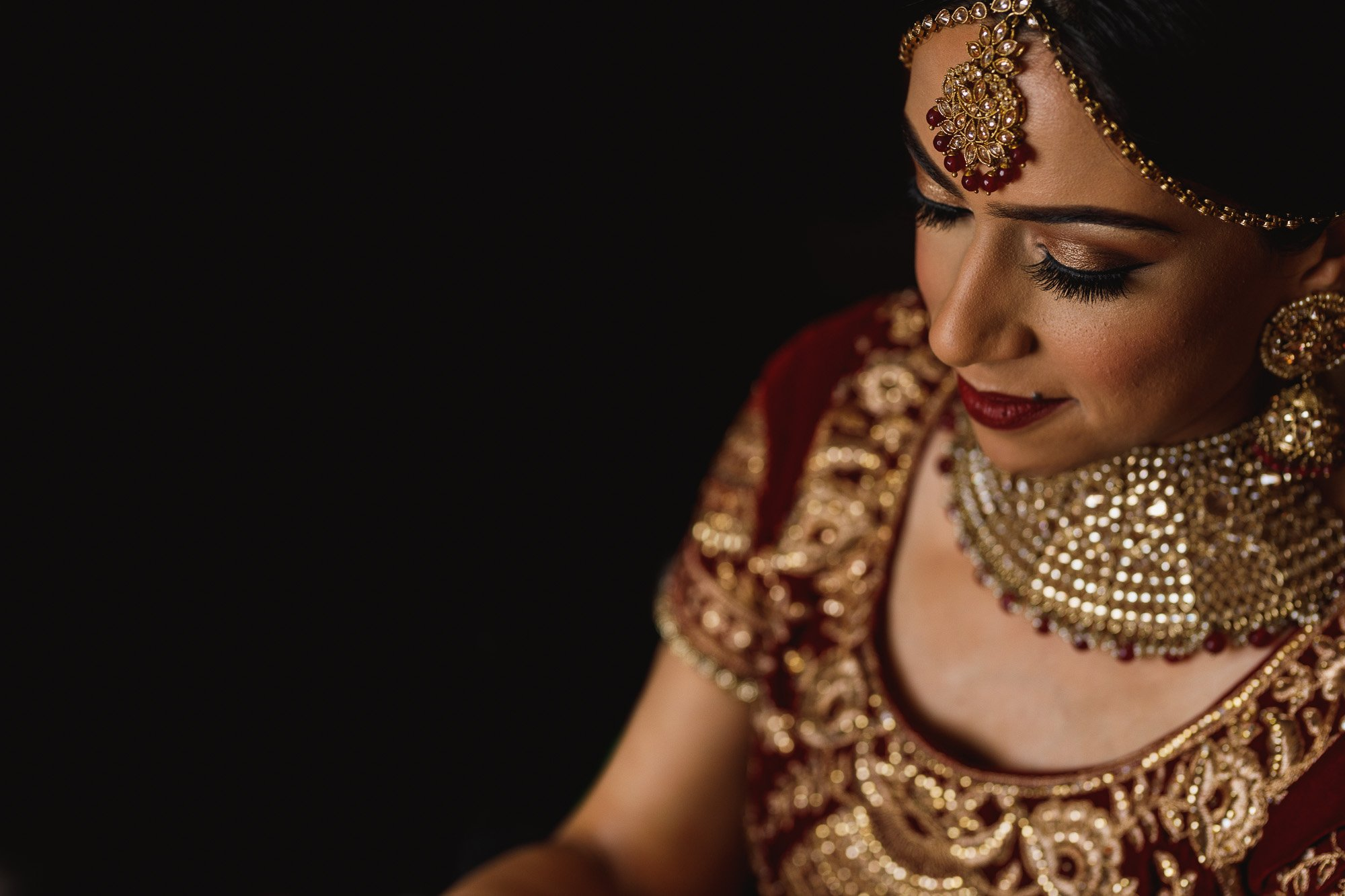 Bride getting ready, Jewellery, Indian wedding dress, London wedding photographer