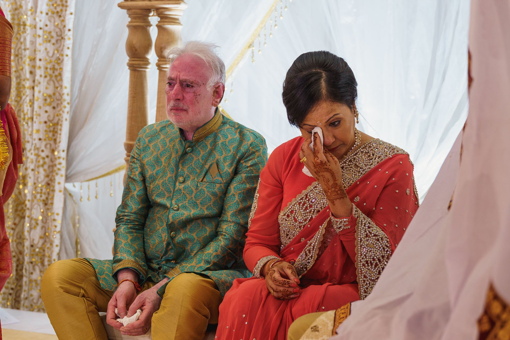 Dunchurch Park Hotel, Midlands Asian Wedding Photographer, mother of bride reaction