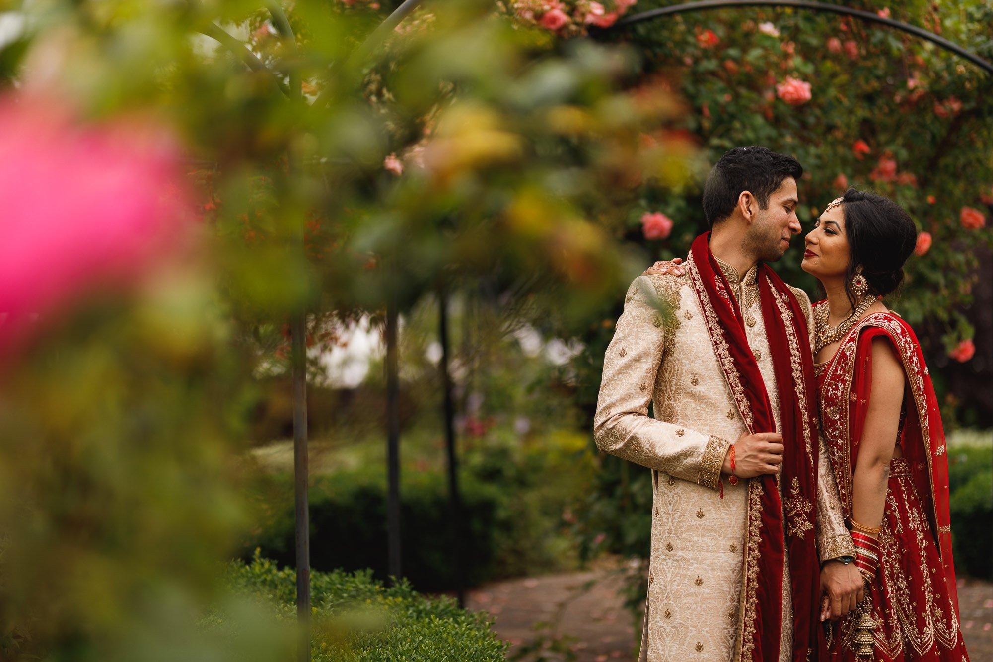 Dunchurch Park Hotel, Asian wedding photographer Midlands, bride and groom portrait