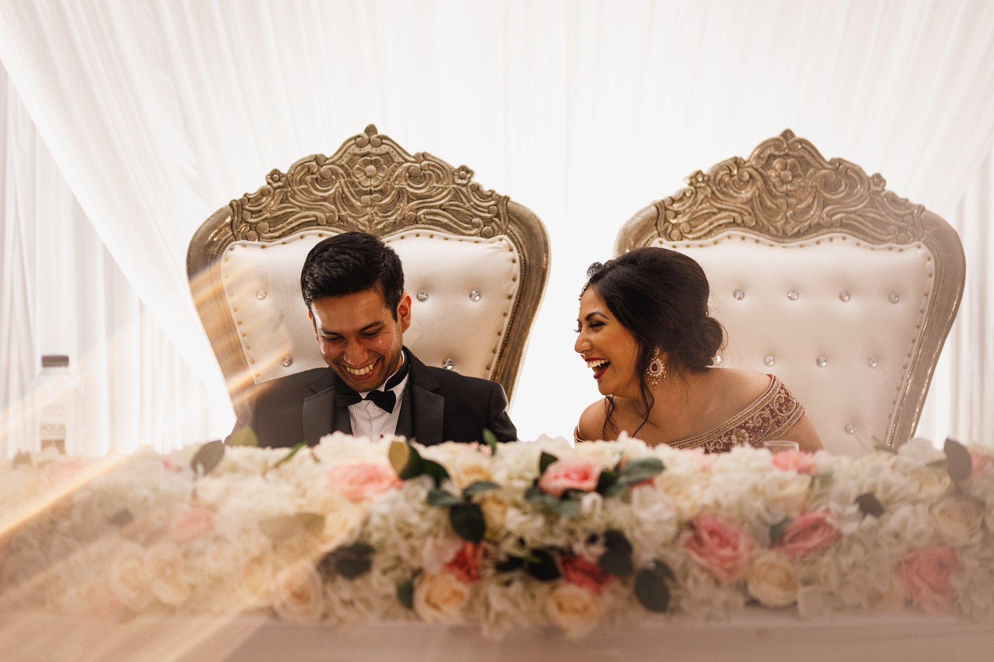 Dunchurch Park Hotel, Midlands Asian Wedding Photographer, speech reactions