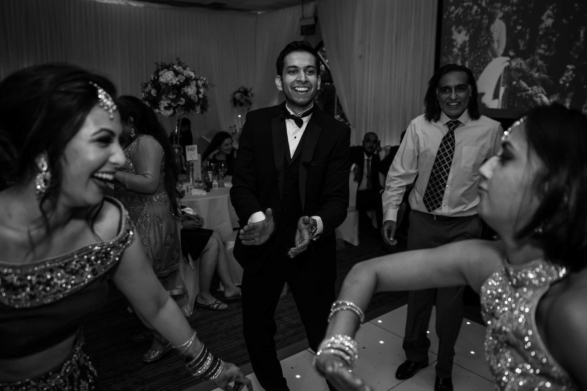 Dunchurch Park Hotel, Midlands Asian Wedding Photographer, dancefloor