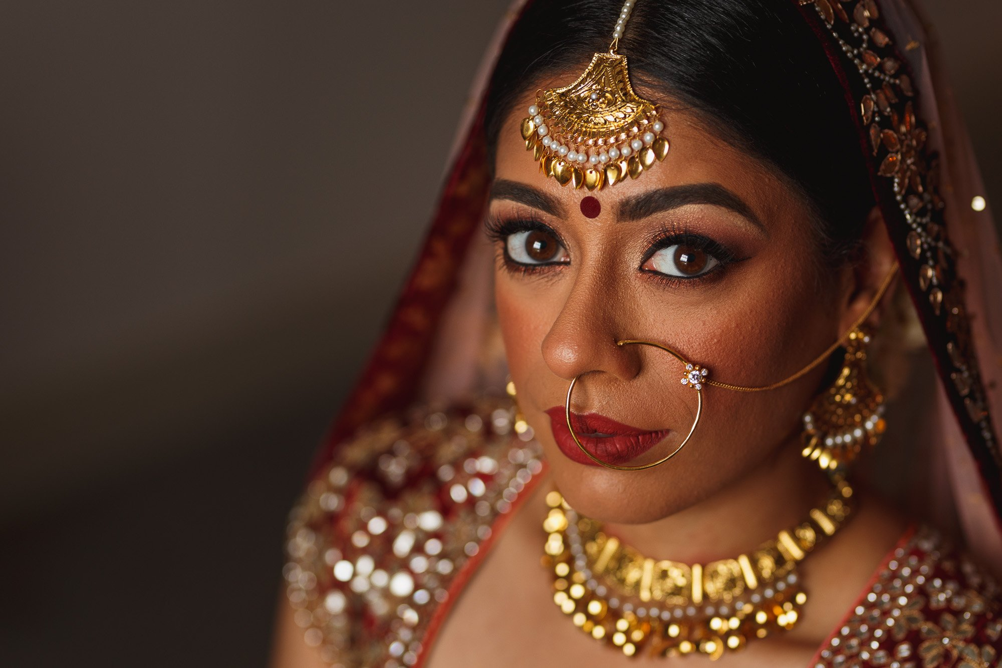 De Vere Wokefield Estate, Asian wedding photographer, bride portrait