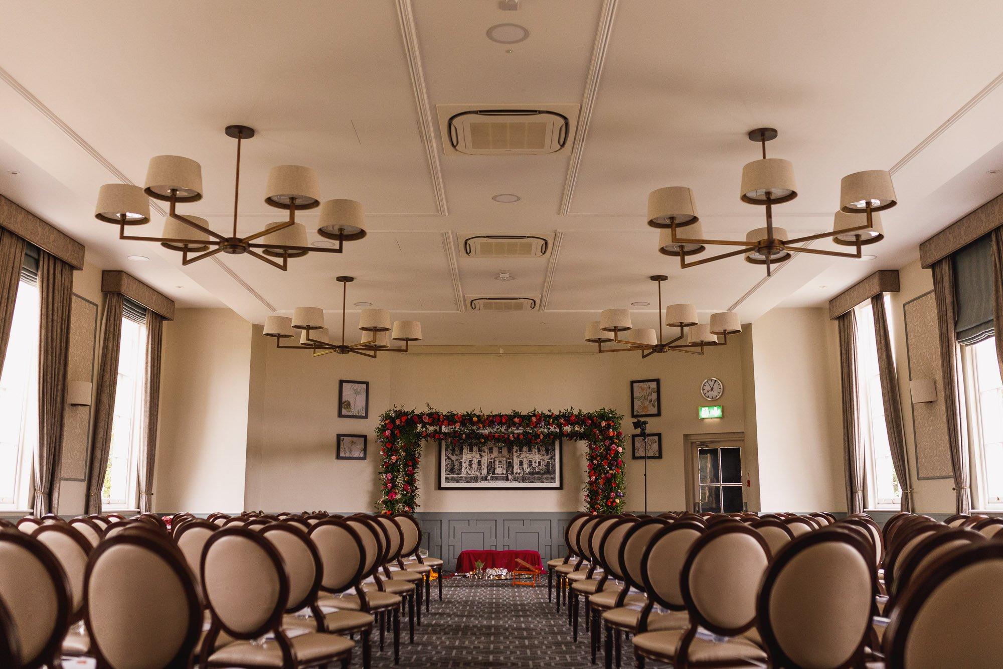 De Vere Wokefield Estate, Asian wedding photographer, wedding venue, mandap