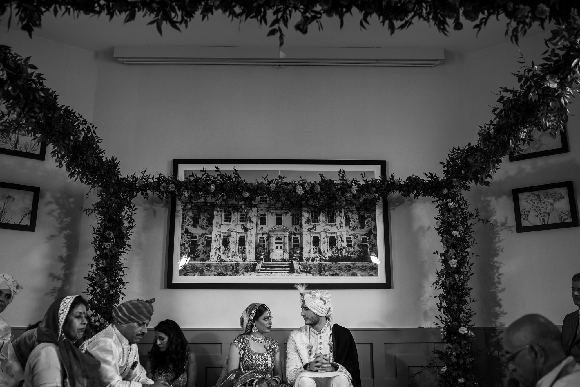 De Vere Wokefield Estate, Asian wedding photographer, hindu ceremony, bride and groom
