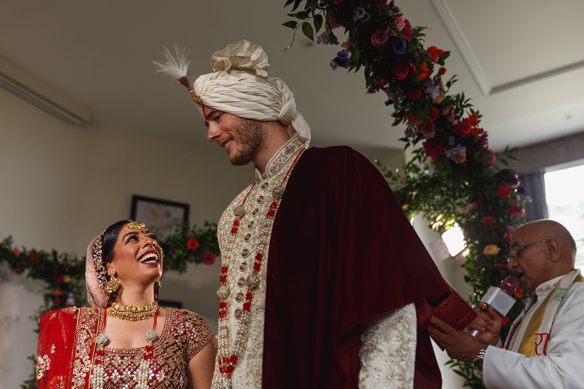 De Vere Wokefield Estate, Asian wedding photographer, bride and groom