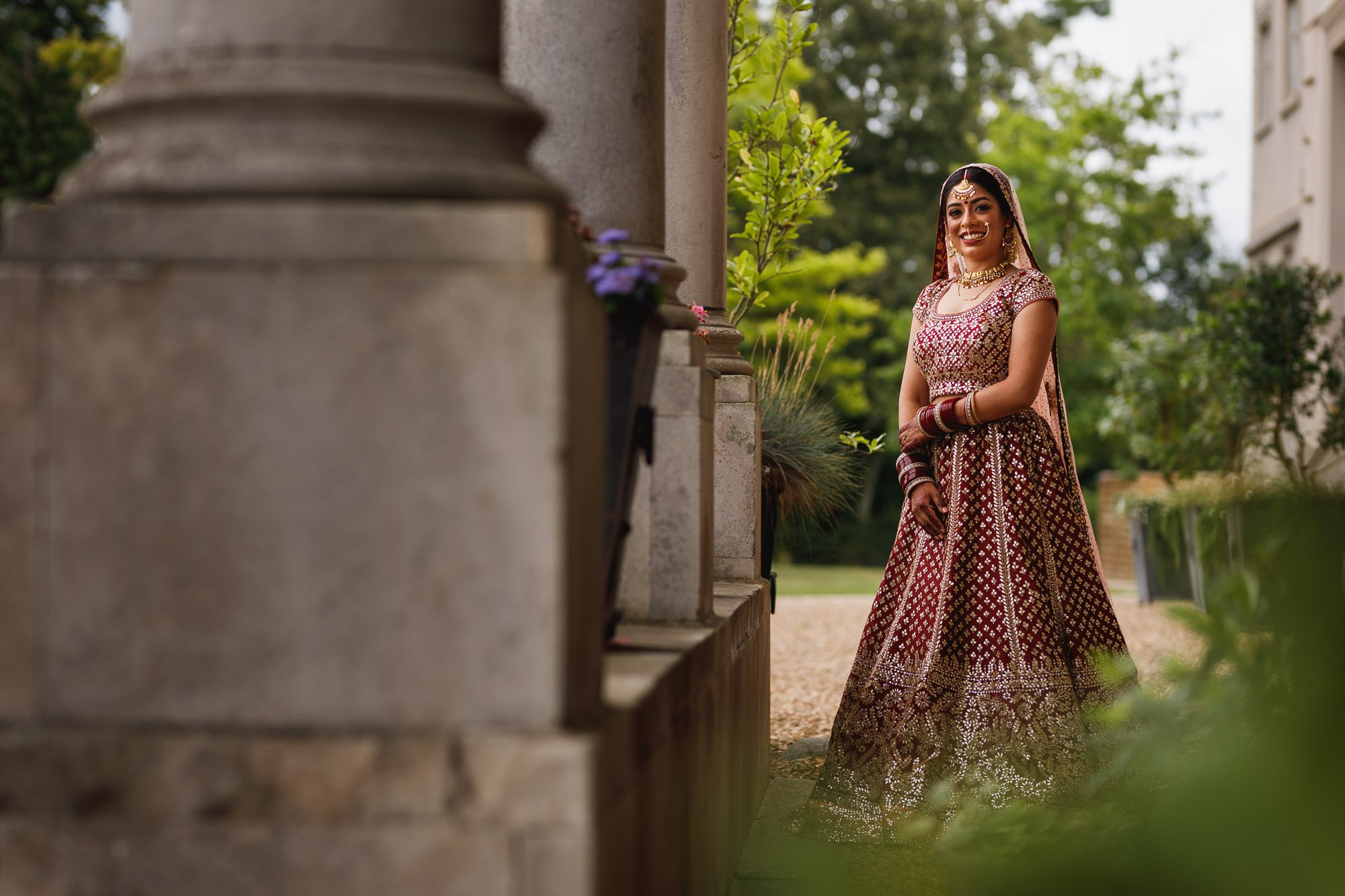 De Vere Wokefield Estate, Asian wedding photographer, bride portrait