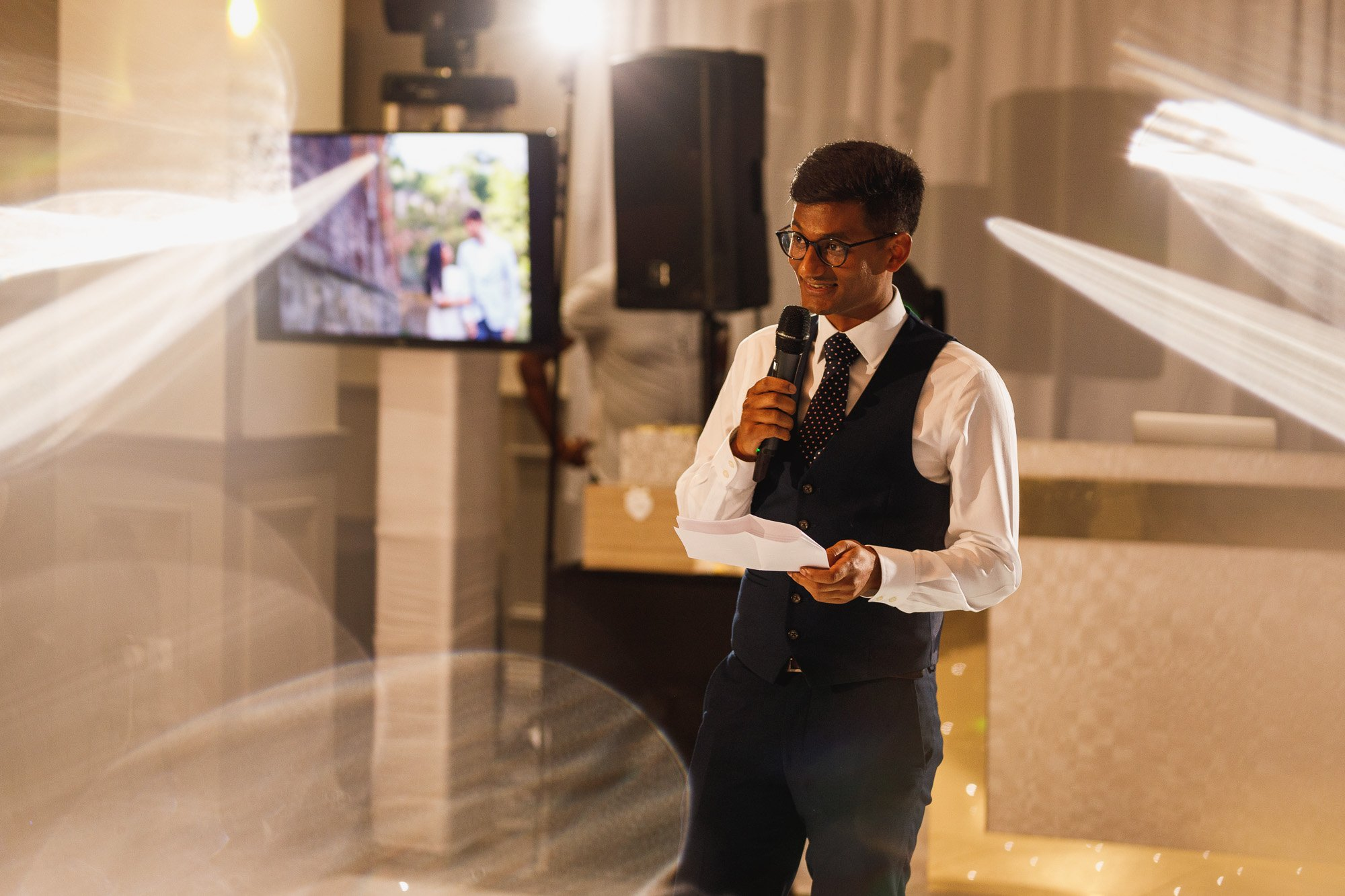 De Vere Wokefield Estate, Asian wedding photographer, reception, speeches