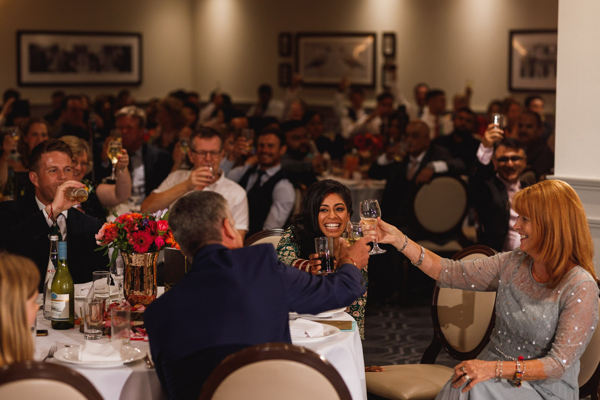 De Vere Wokefield Estate, Asian wedding photographer, reception, speech reactions