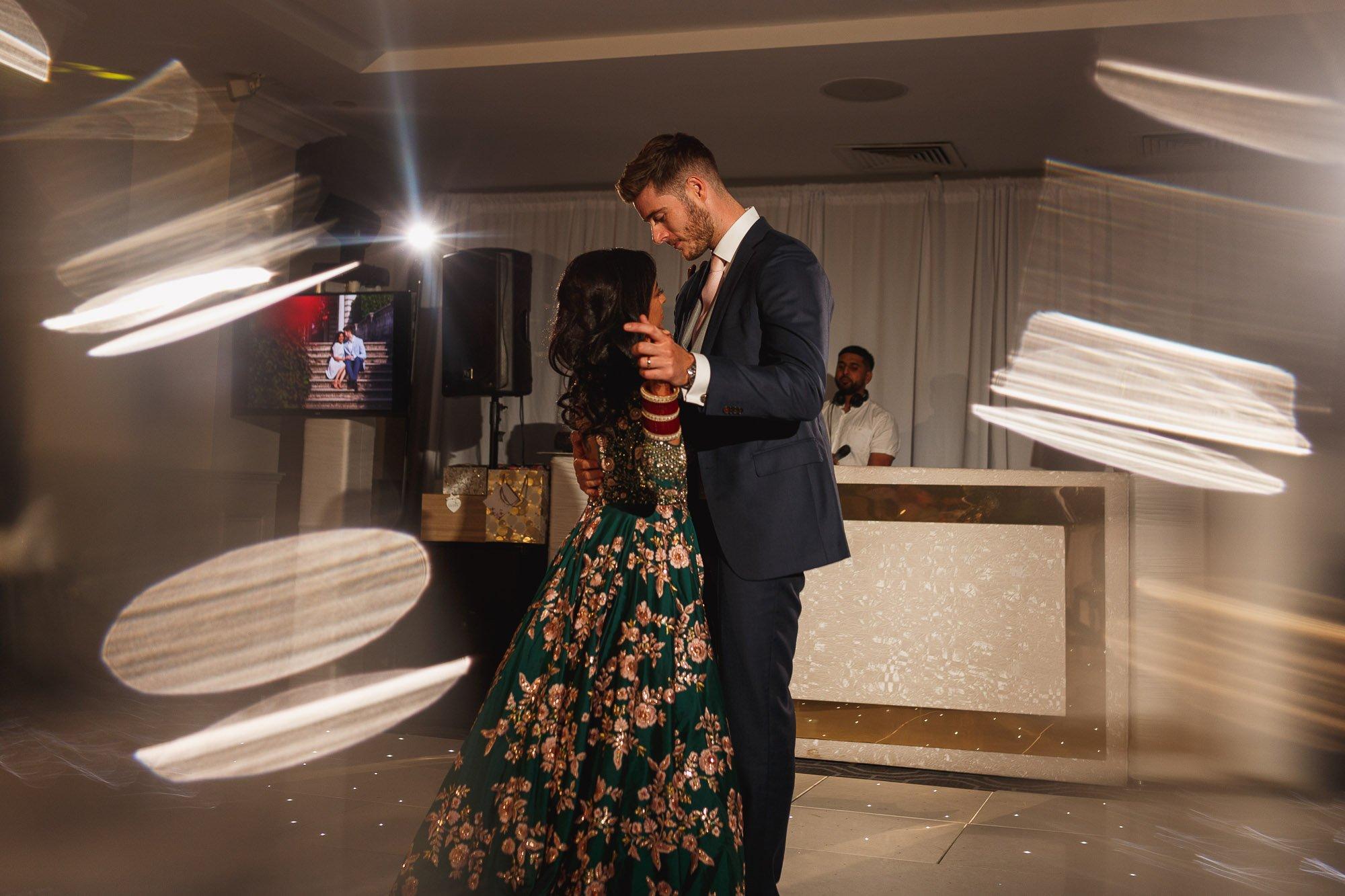 De Vere Wokefield Estate, Asian wedding photographer, reception, first dance