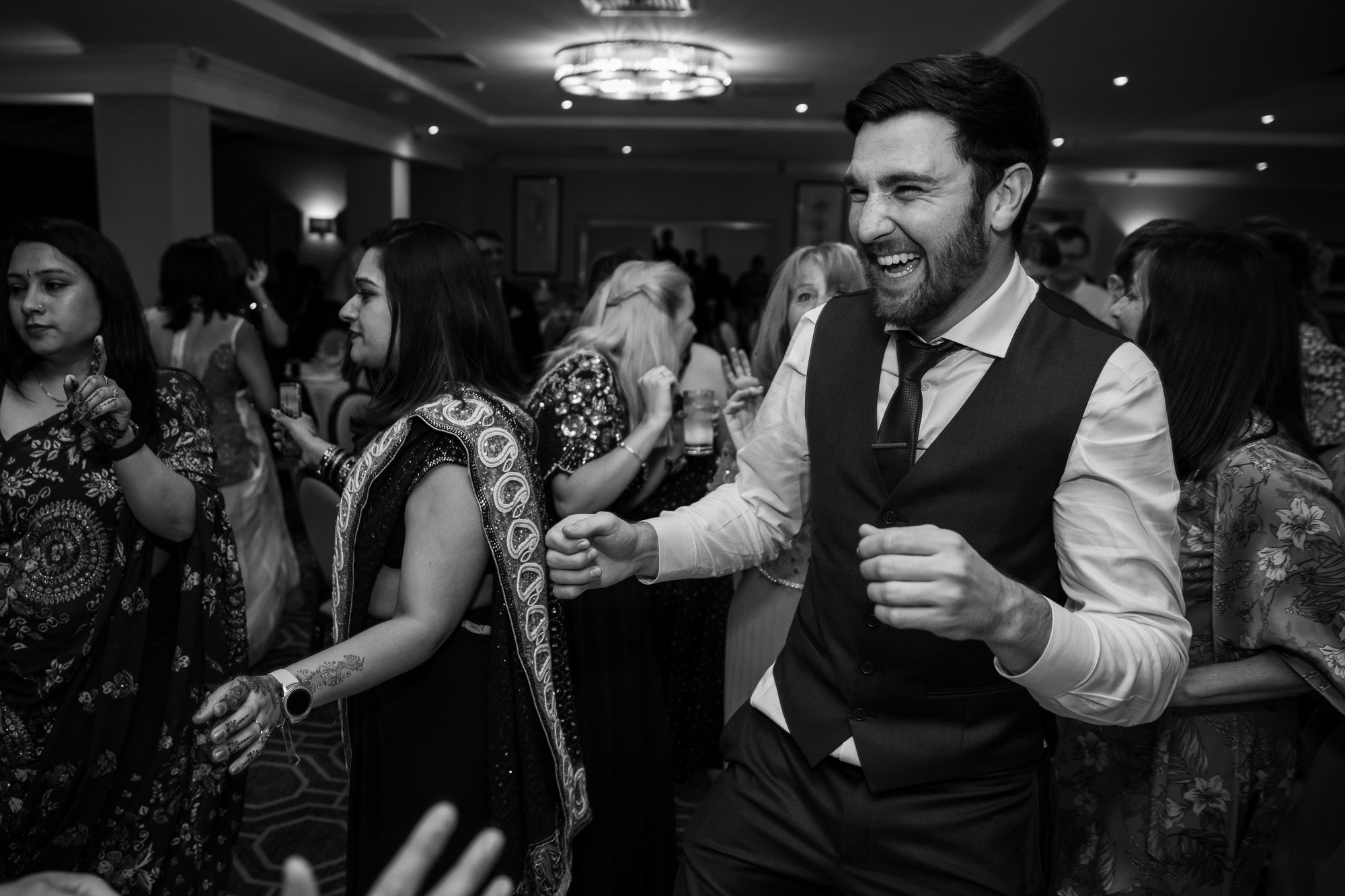 De Vere Wokefield Estate, Asian wedding photographer, reception, dance floor