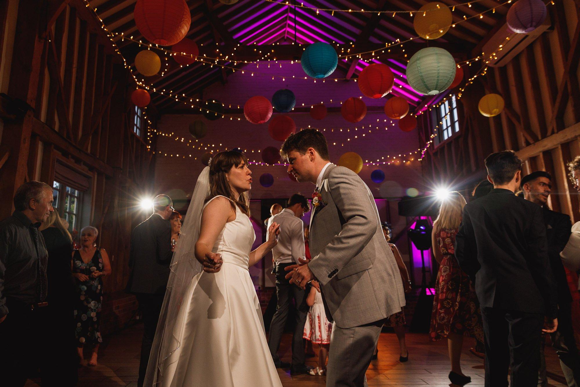 Milling Barn, Hertfordshire Wedding Photographer, bride and groom dancefloor
