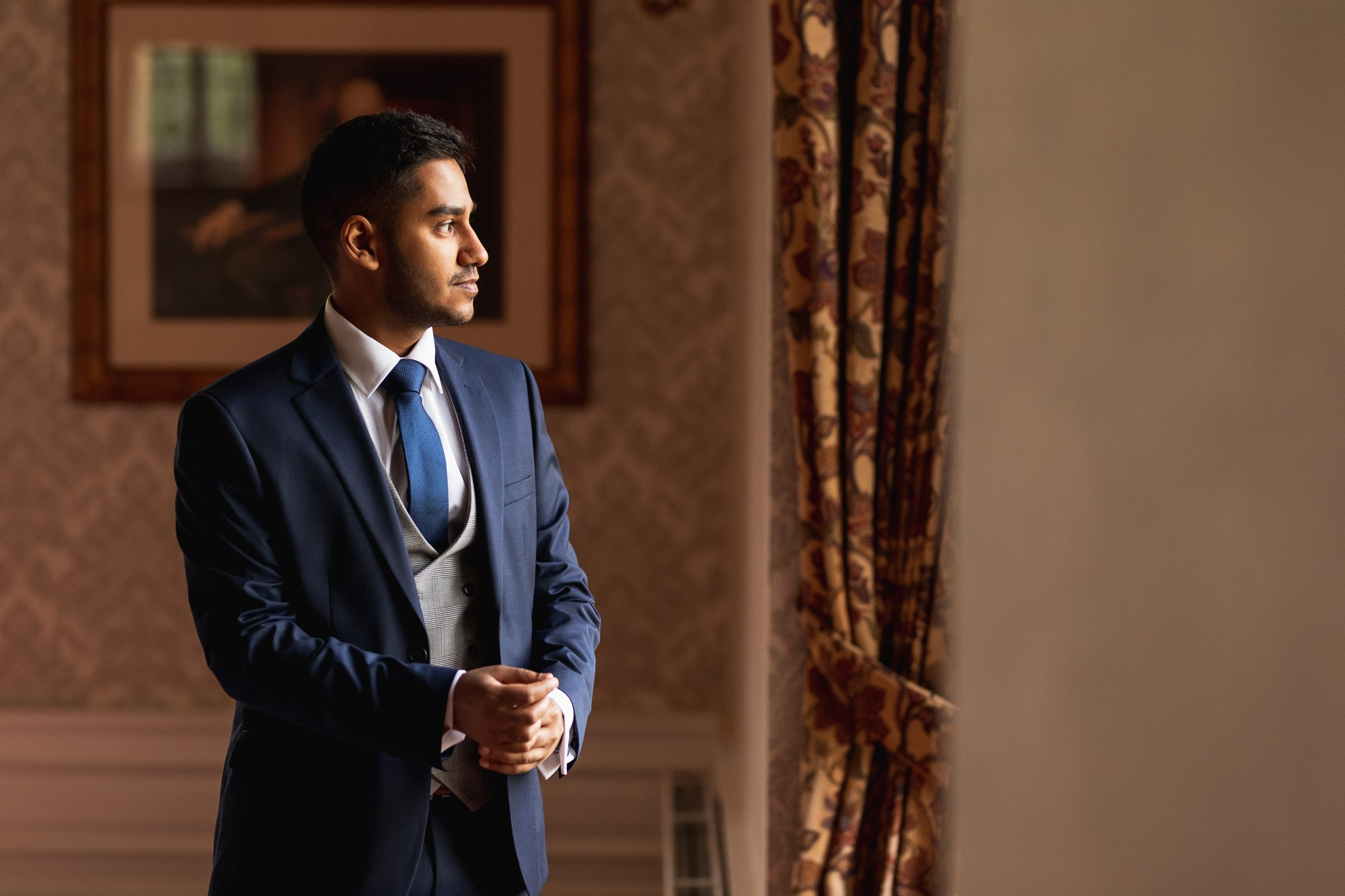 Dunchurch Park Hotel, Asian wedding photographer Midlands, groom getting ready