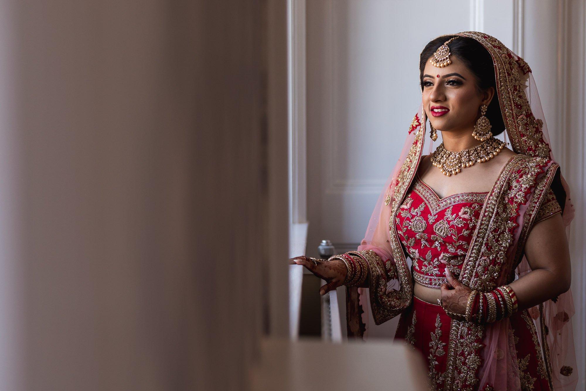 Dunchurch Park Hotel, Asian wedding photographer Midlands, bridal portrait