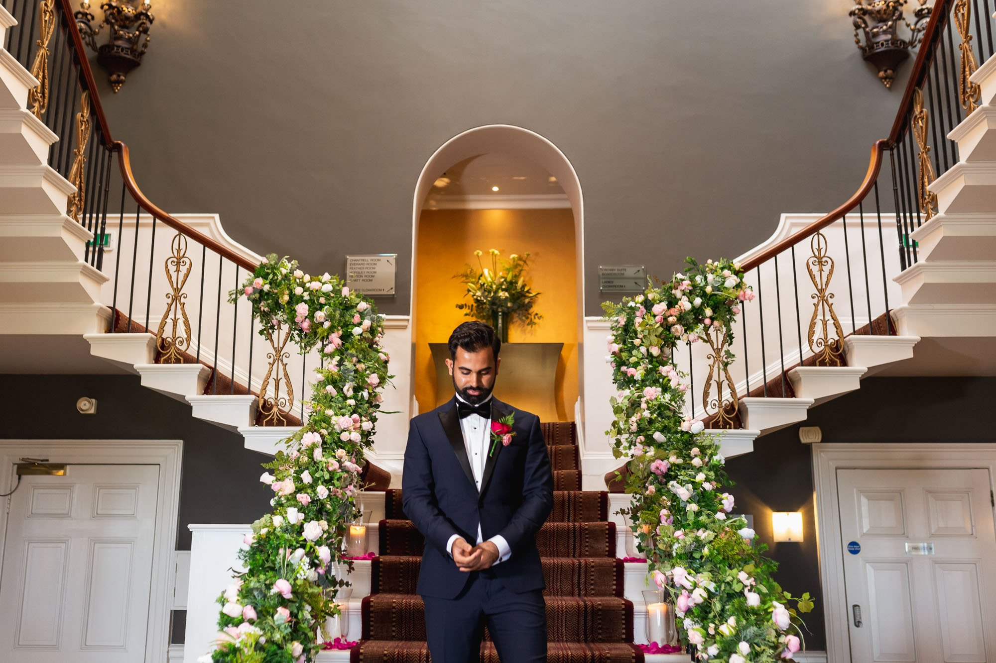 Rudding Park, Yorkshire, Asian Wedding Photography, civil ceremony, grooms entrance