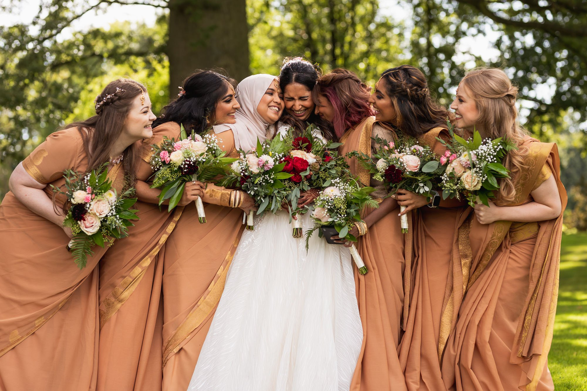 Rudding Park, Yorkshire, Asian Wedding Photography, bridesmaids