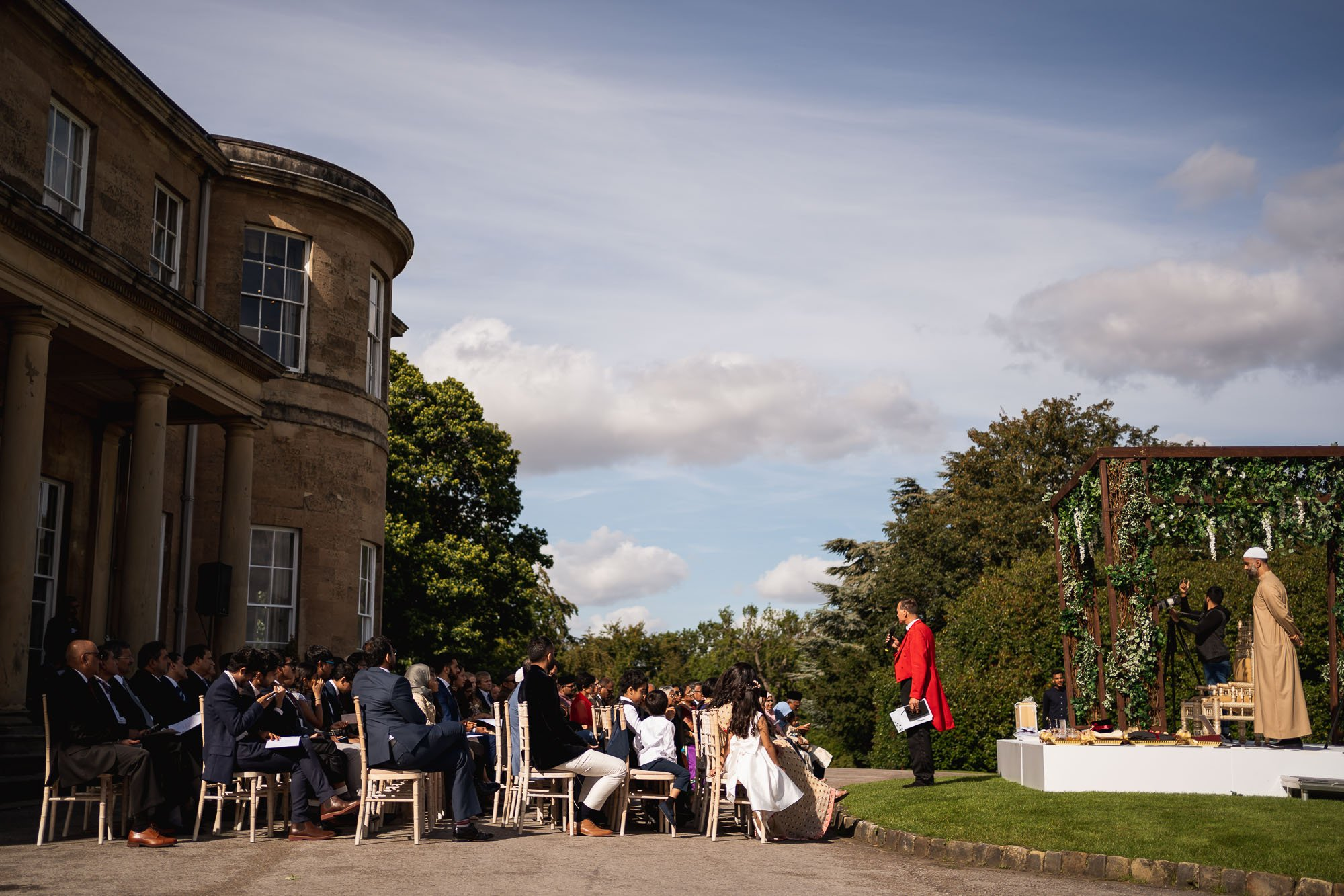 Rudding Park, Yorkshire, Asian Wedding Photography, outdoor nikkah ceremony, toastmaster
