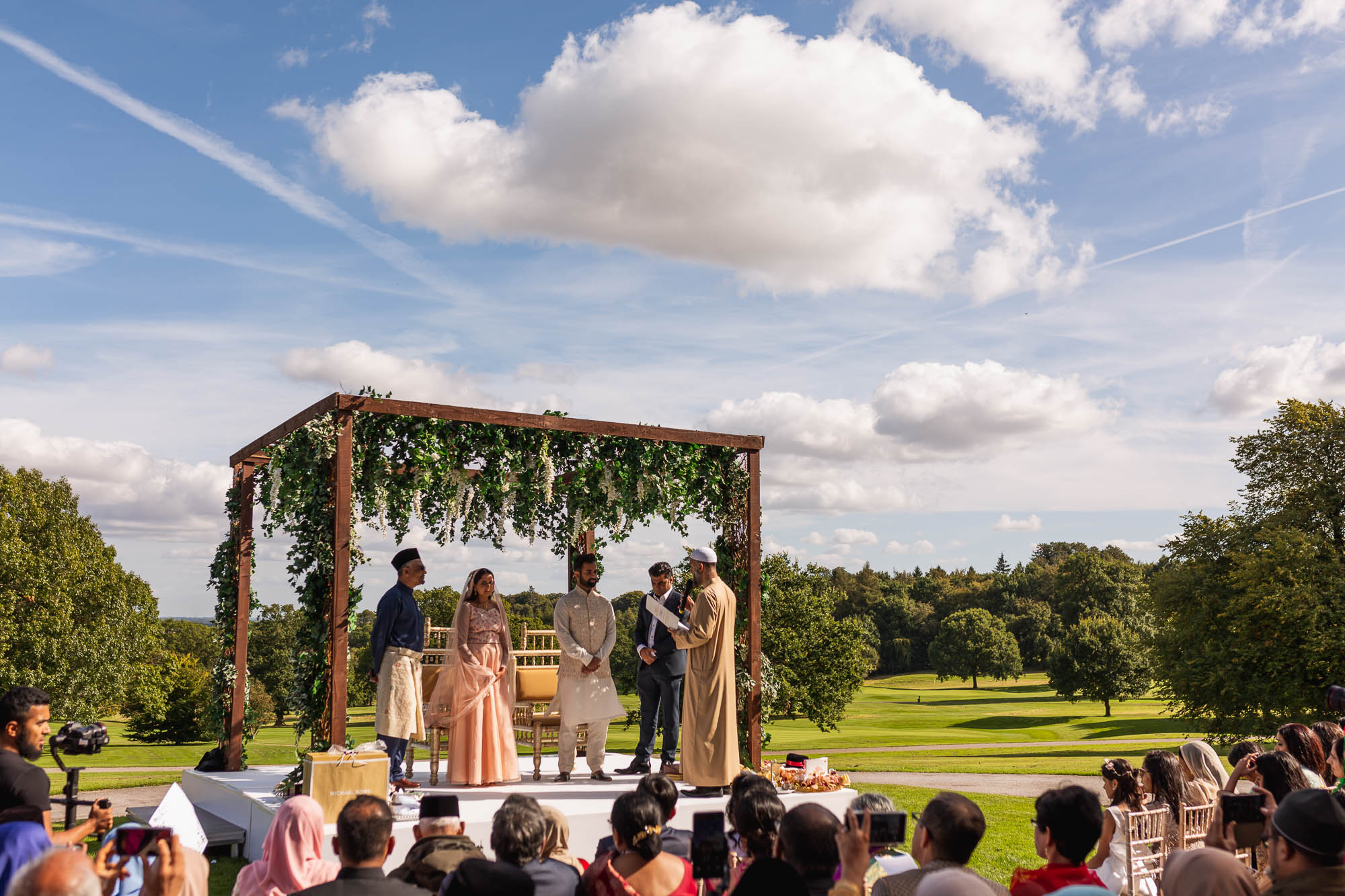 Rudding Park, Yorkshire, Asian Wedding Photography, outdoor nikkah ceremony