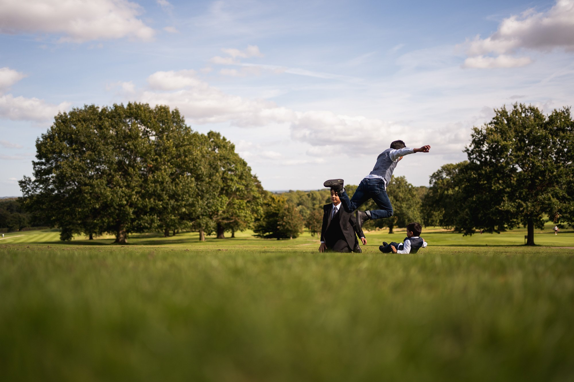 Rudding Park, Yorkshire, Asian Wedding Photography, kids playing outdoors