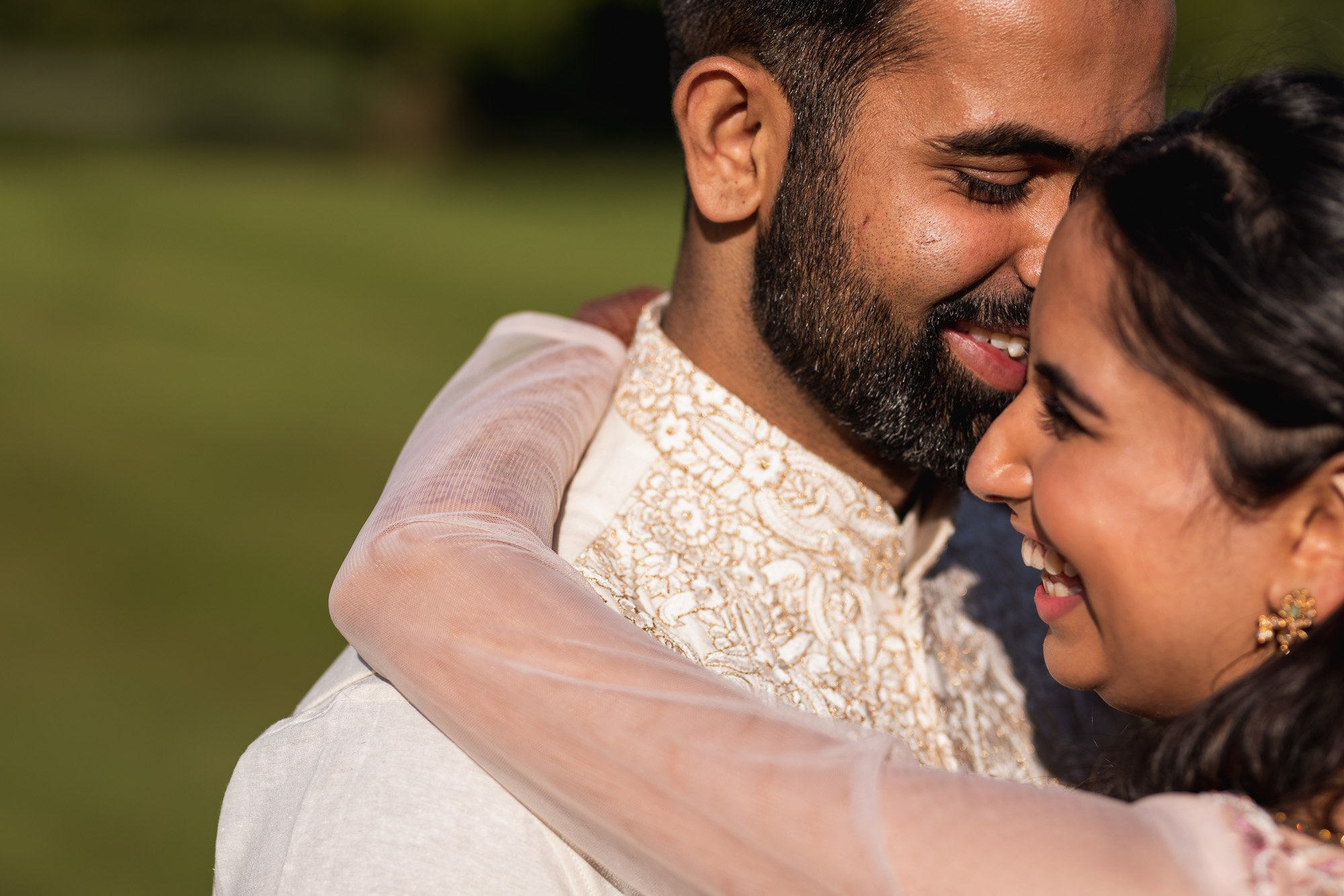 Rudding Park, Yorkshire, Asian Wedding Photography, bride and groom portrait