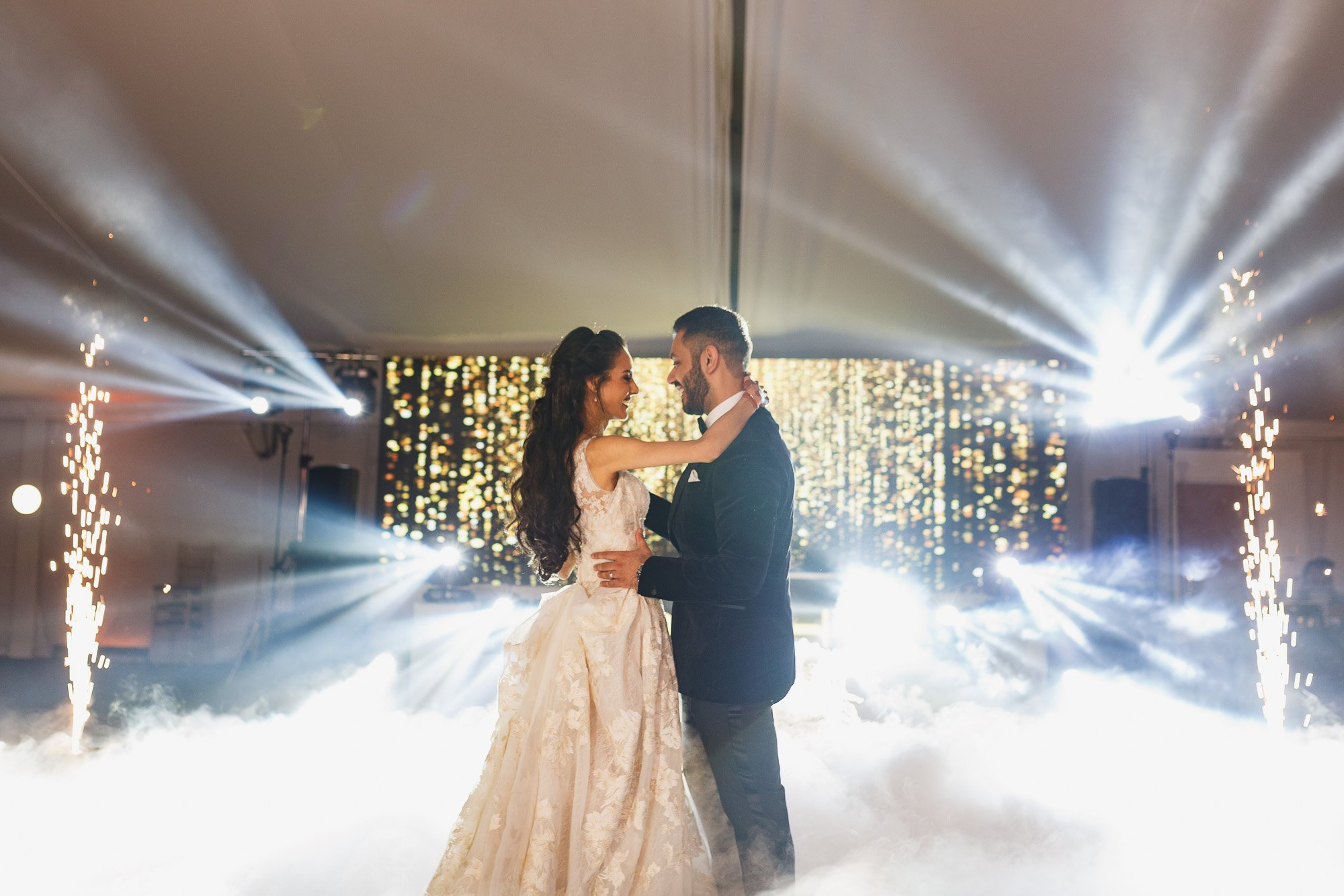 Heythrop Park Hotel, Oxfordshire, first dance, dry ice