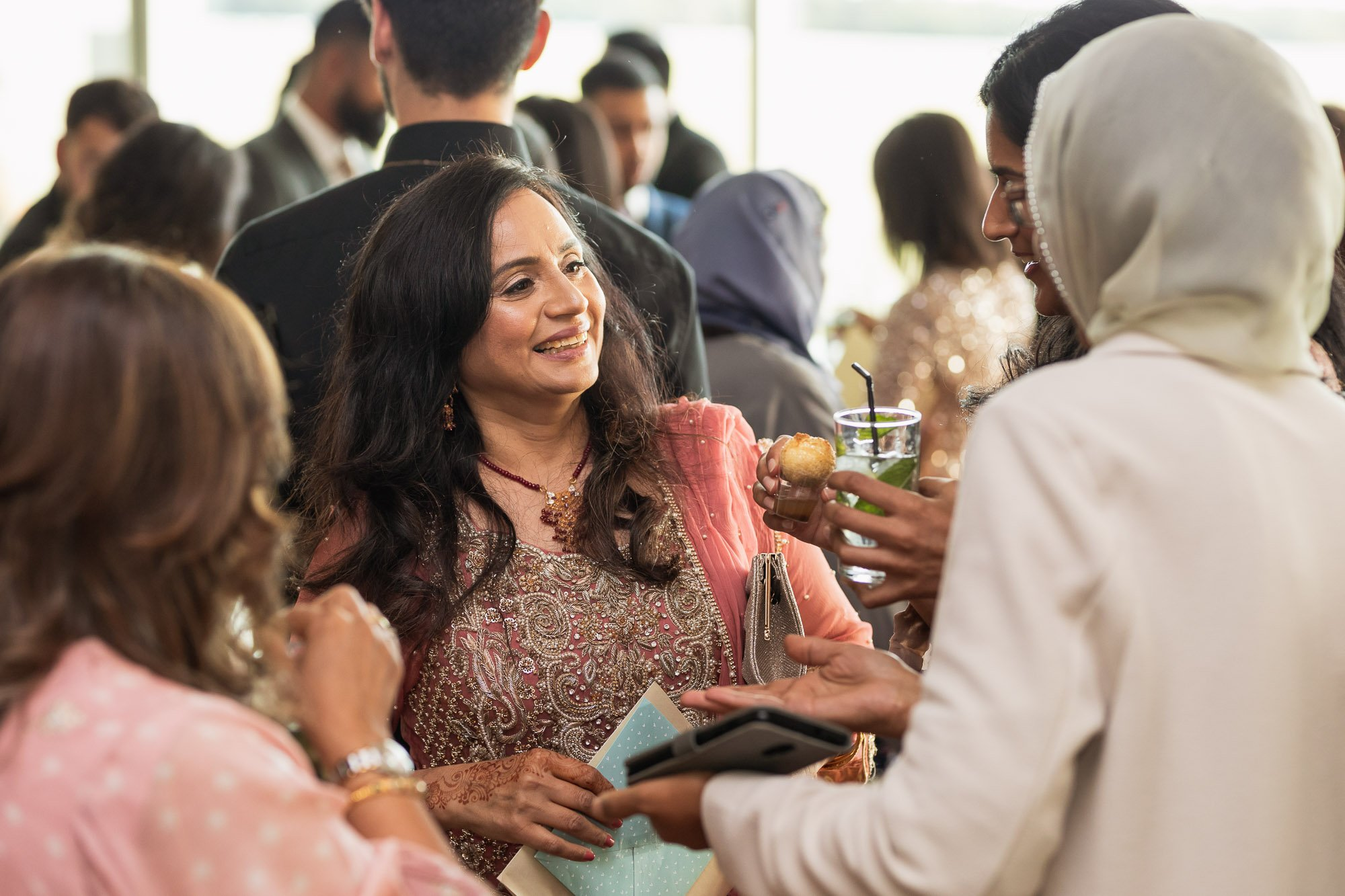 Epsom Racecourse, Surrey, Asian wedding photographer, drinks reception