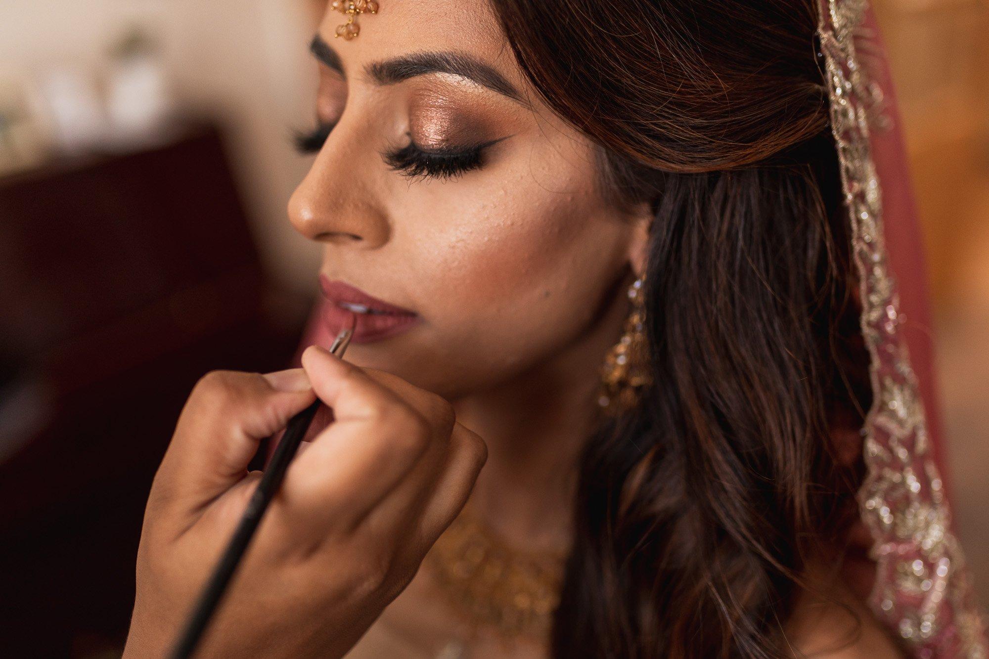 Epsom Racecourse, Surrey, Asian wedding photographer, bridal make up