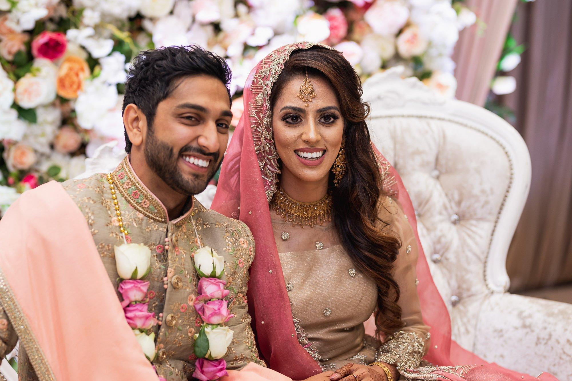Epsom Racecourse, Surrey, Asian wedding photographer, bride and groom