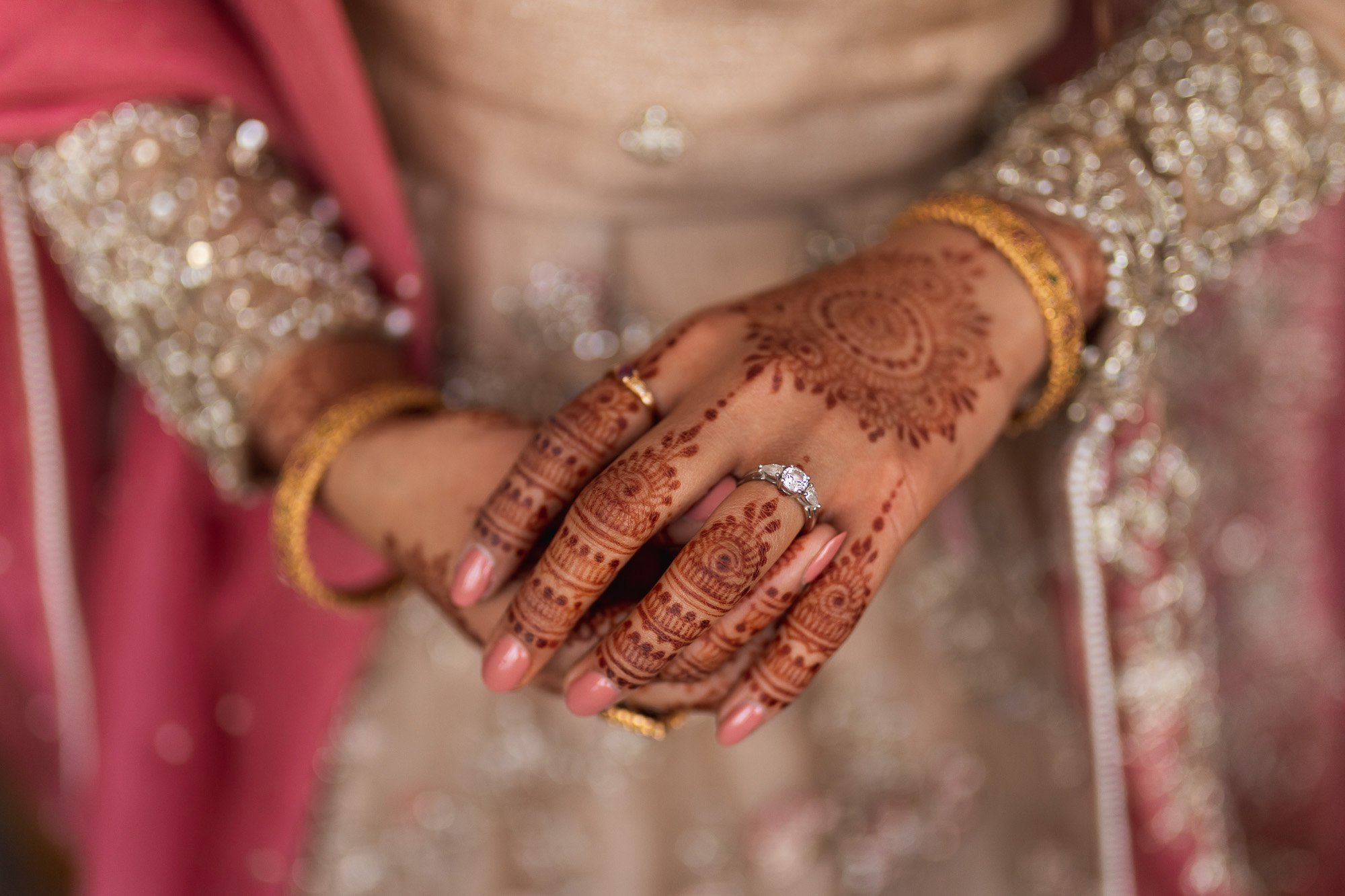 Epsom Racecourse, Surrey, Asian wedding photographer, bridal Menhdi