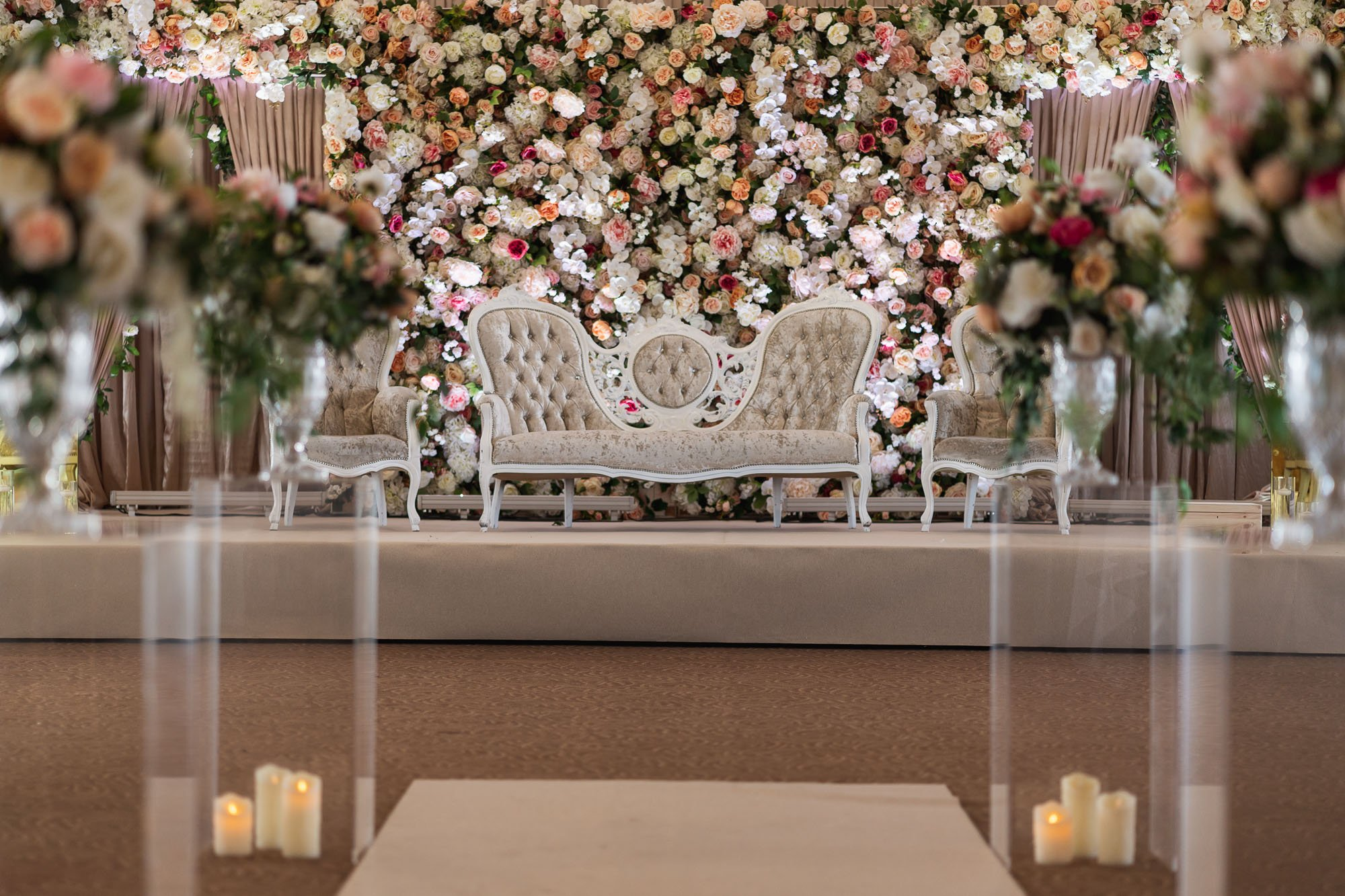 Epsom Racecourse, Surrey, Asian wedding photographer, venue decoration