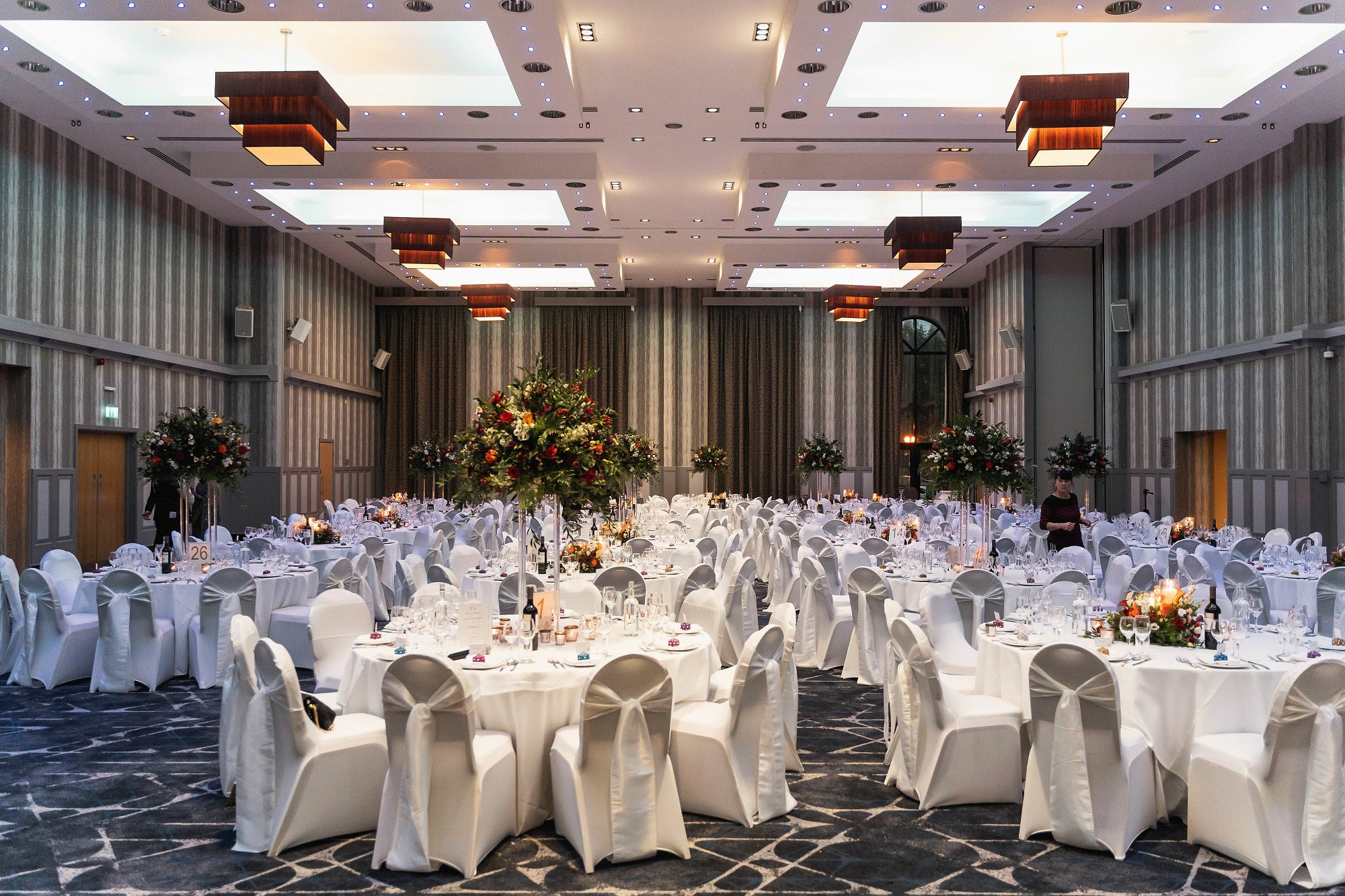 The Vale Resort, Cardiff, Asian wedding photographer, reception decoration