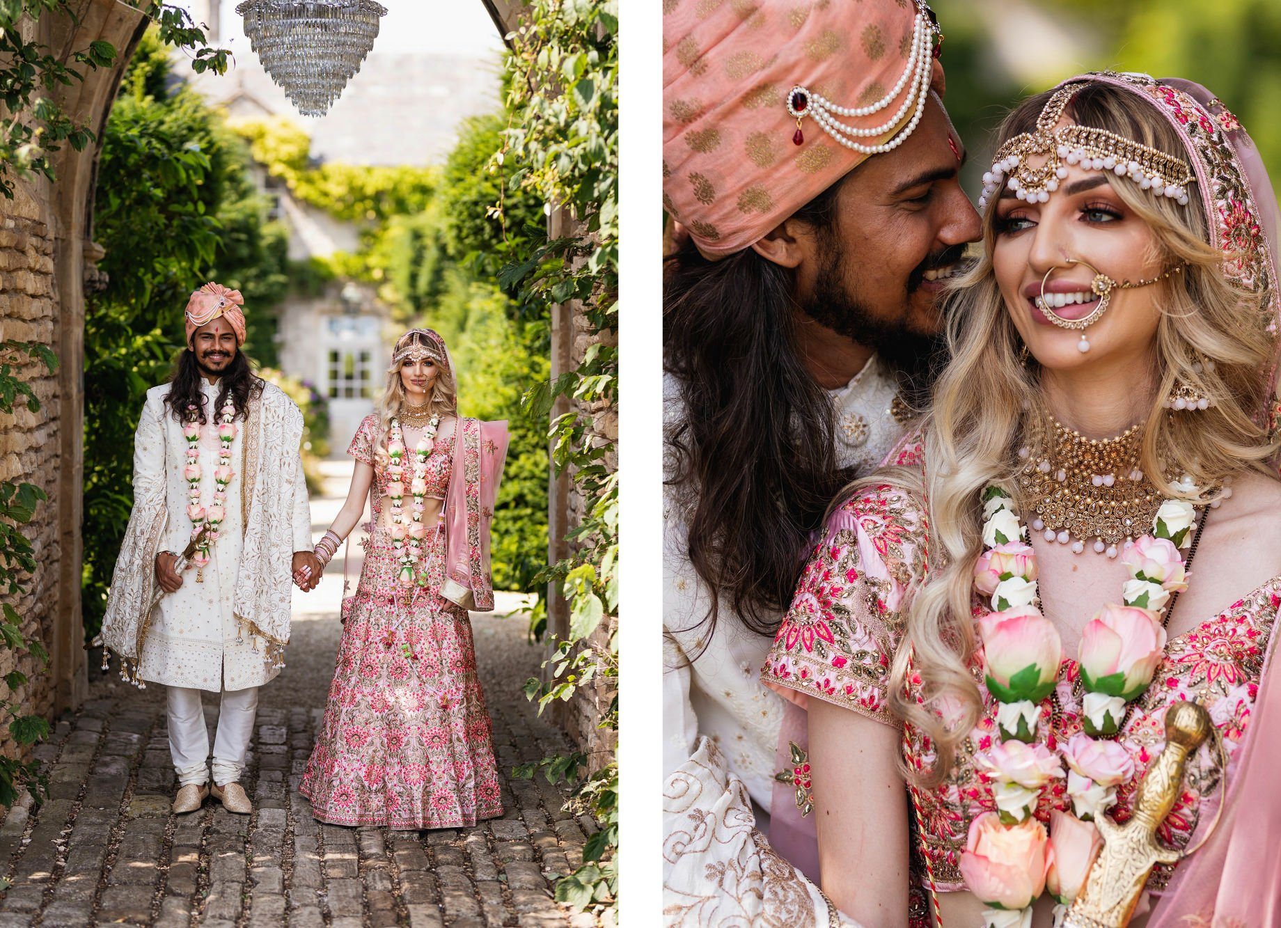 Euridge Manor, Cotswolds, Couples portraits, Indian outfits, Asian Wedding Photography