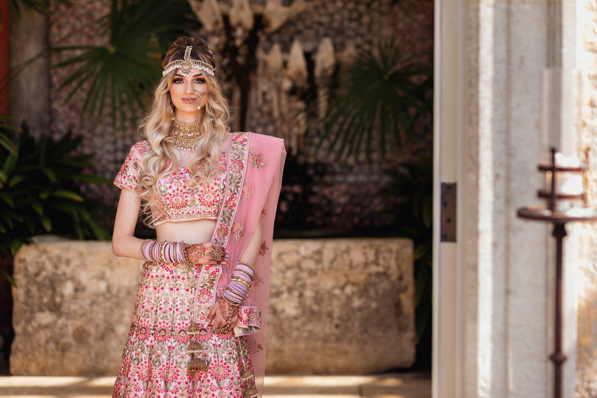 Euridge Manor, Cotswolds, Indian bride portrait, Asian Wedding Photography